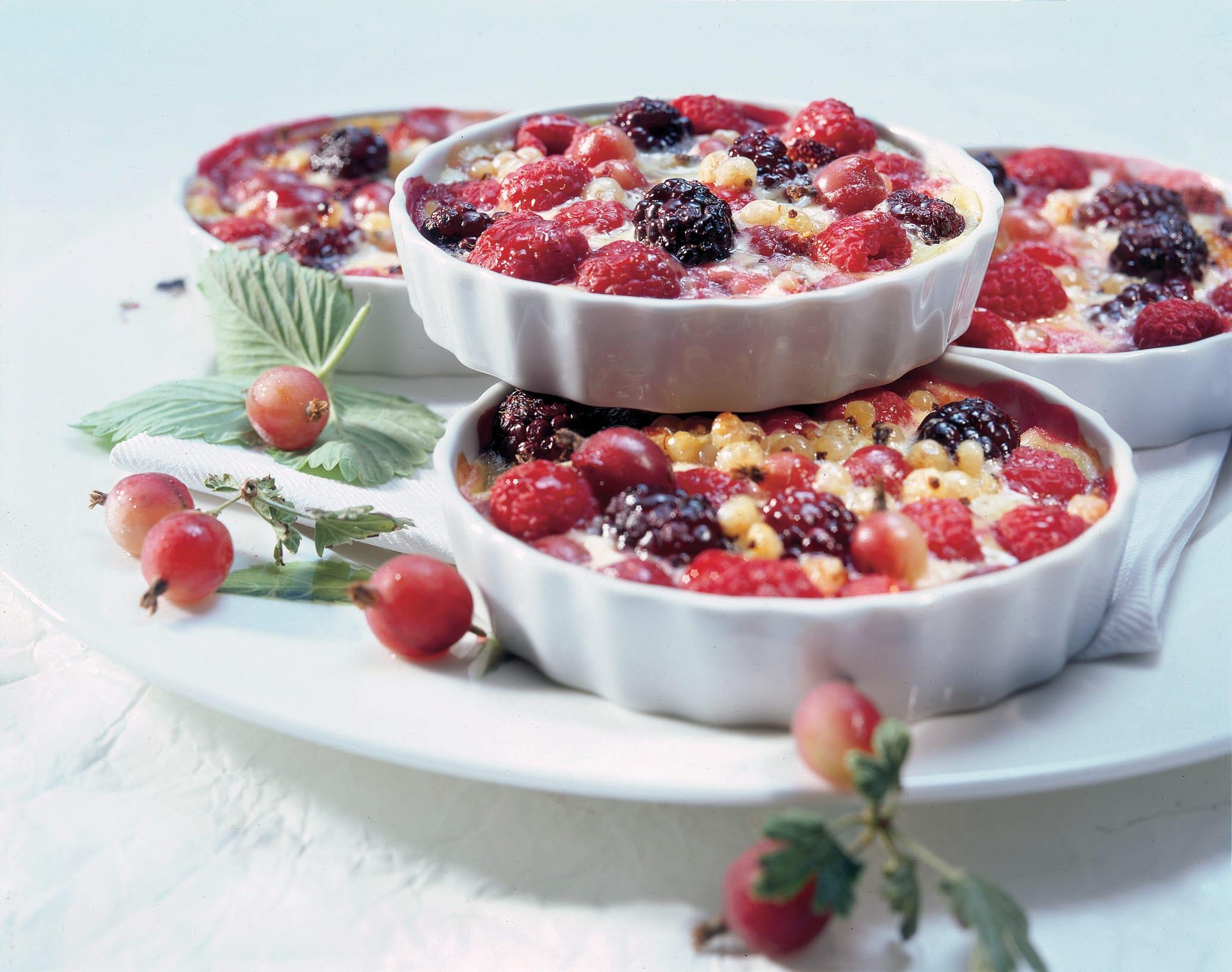 Gratin de petits fruits à la coriandre
