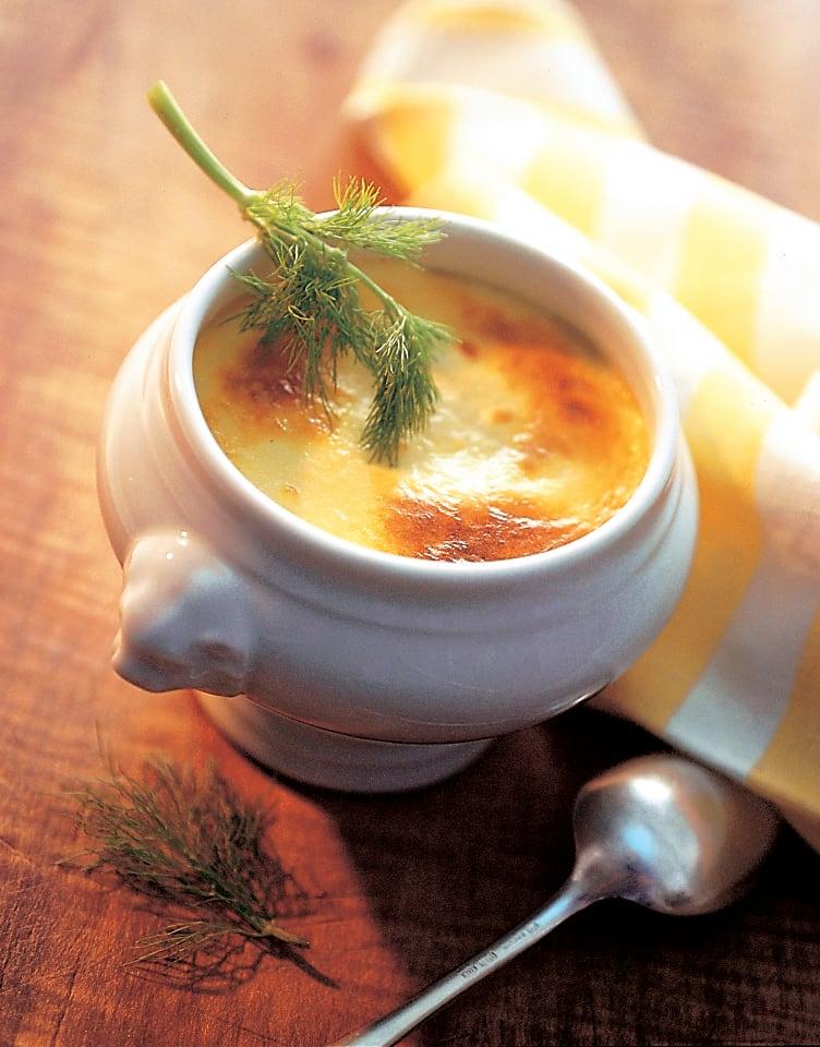 Soupe au fenouil gratinée au fromage de montagne