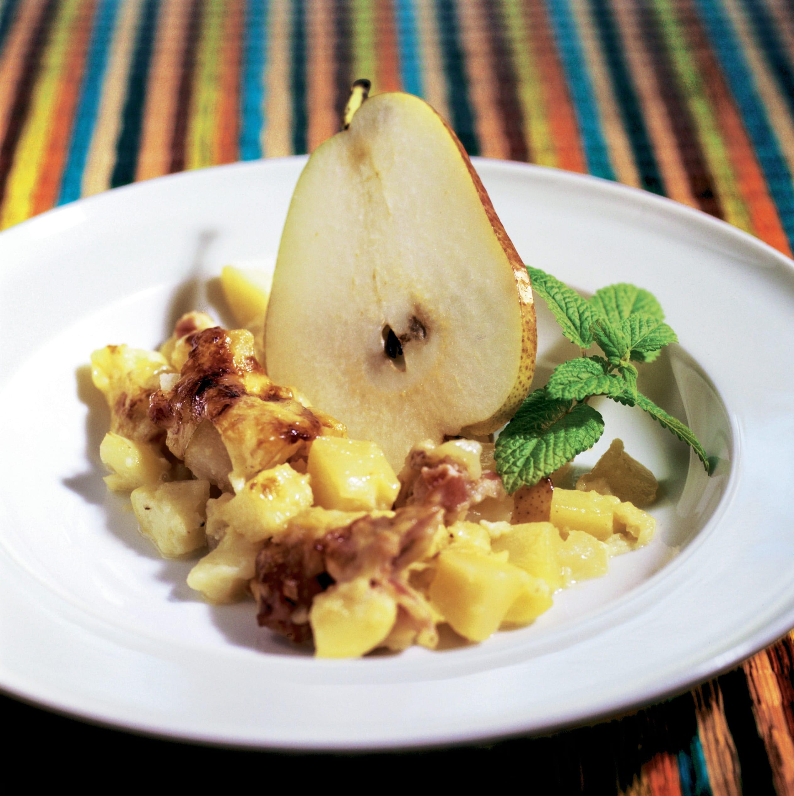 Gratin de pommes de terre aux poires