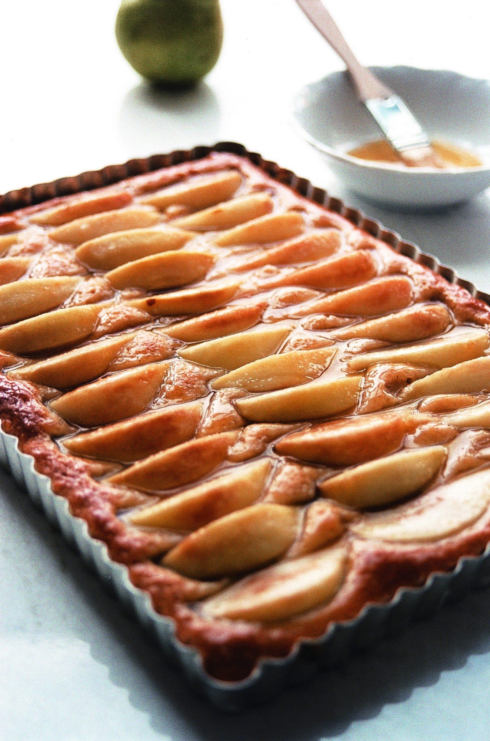 Birnenblechkuchen mit Sternanis