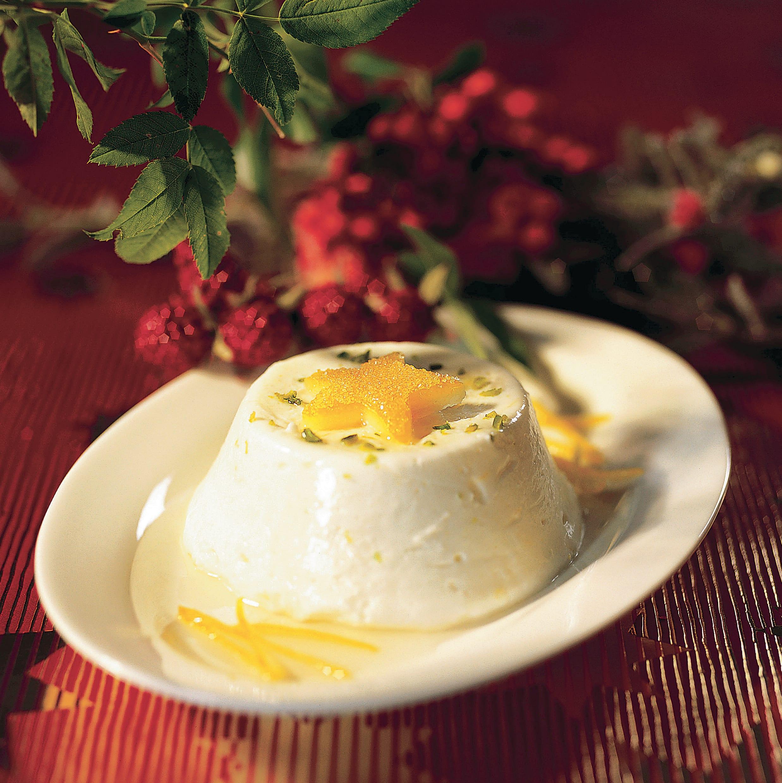 Timbales au blanc battu sauce cannelle-citron