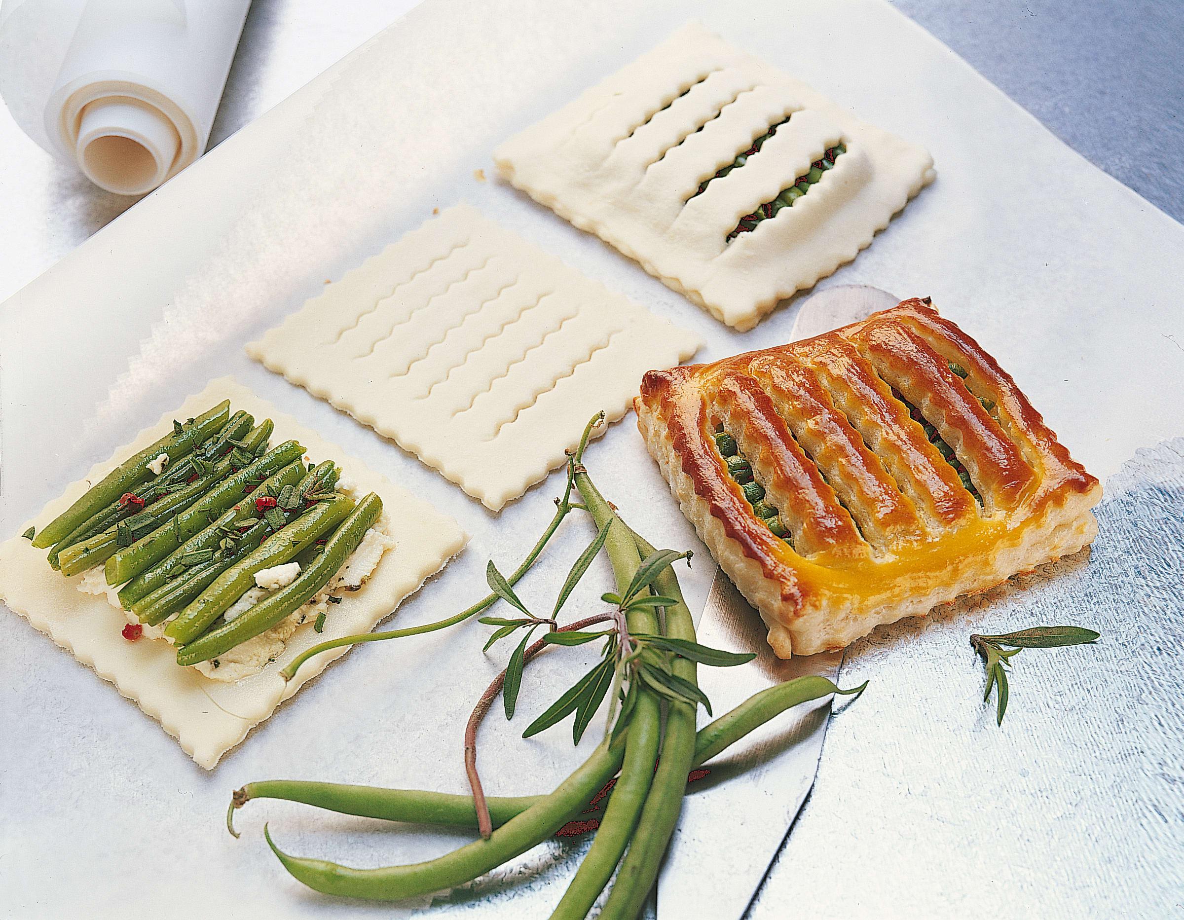 Bohnen-Formaggini-Jalousien