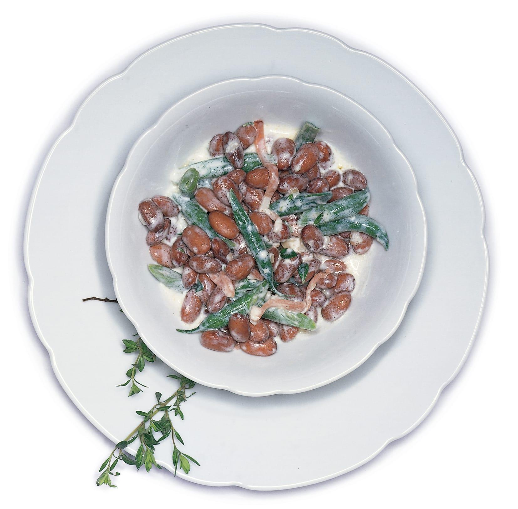 Bohnensalat an Joghurtsauce