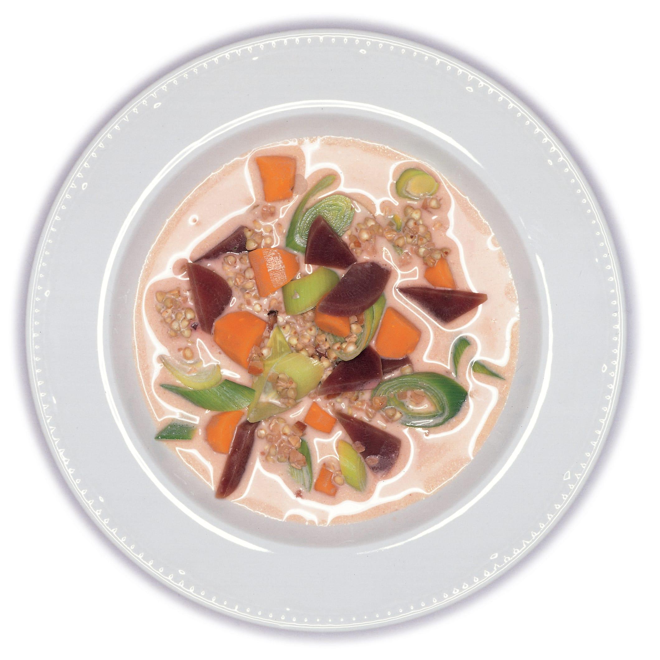 Velouté de sarrasin aux légumes
