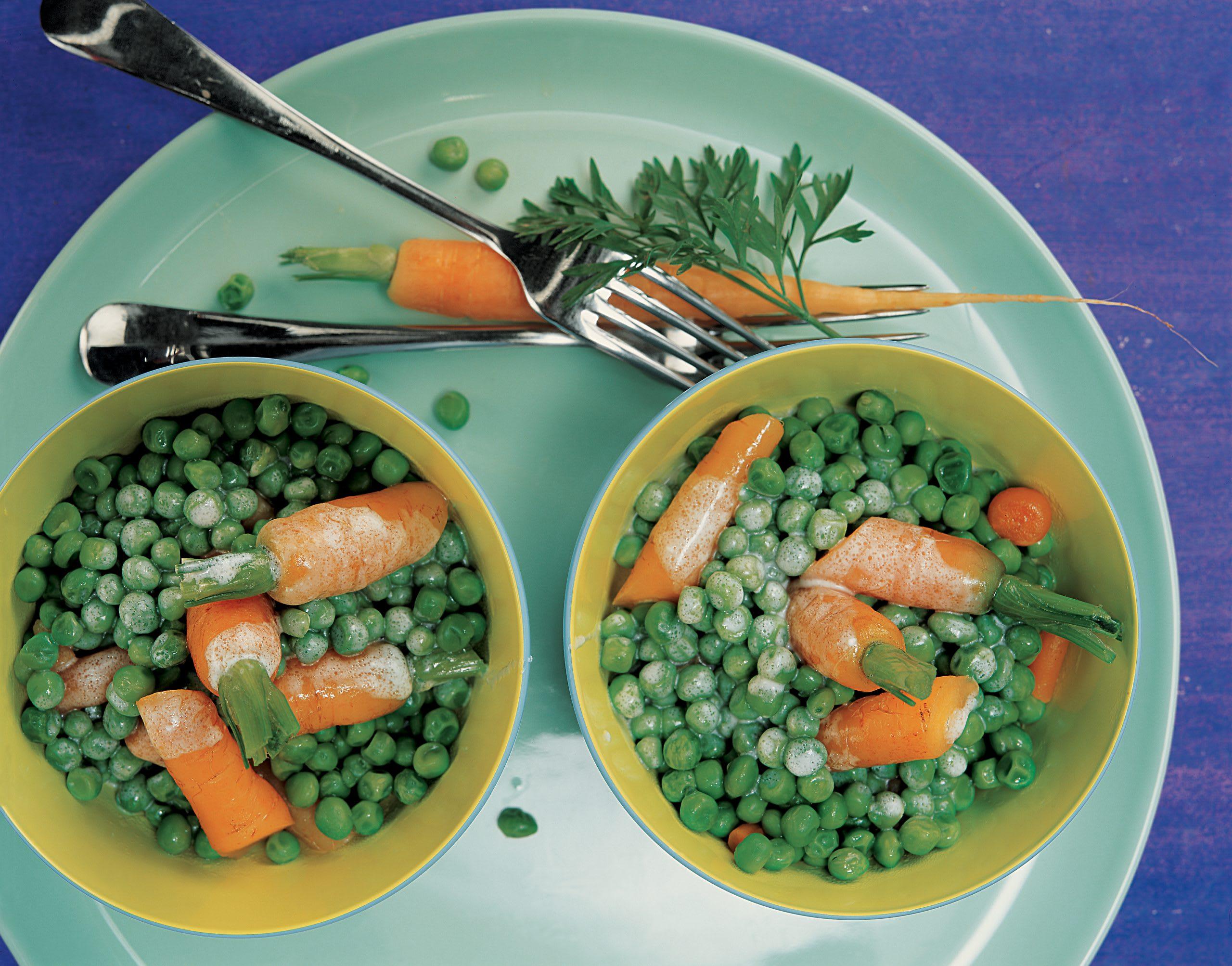 Salade de carottes et de petits pois