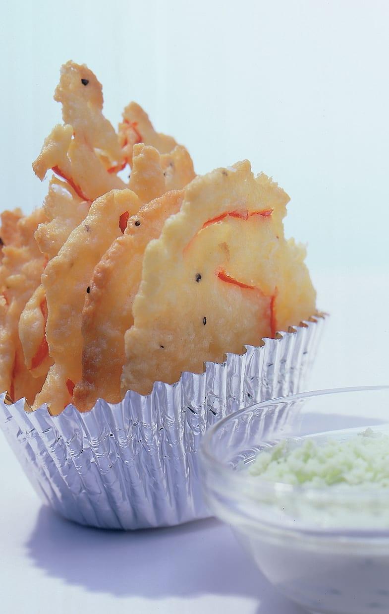 Butterziegelchen mit Schabziger-Dip