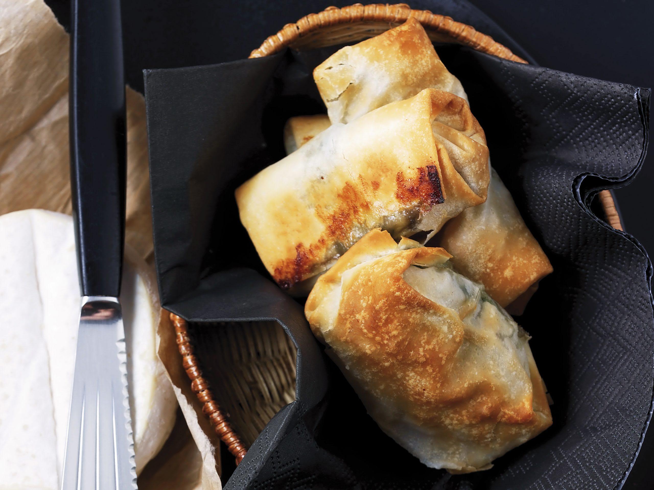 Camembert-Spinat-Strudelchen