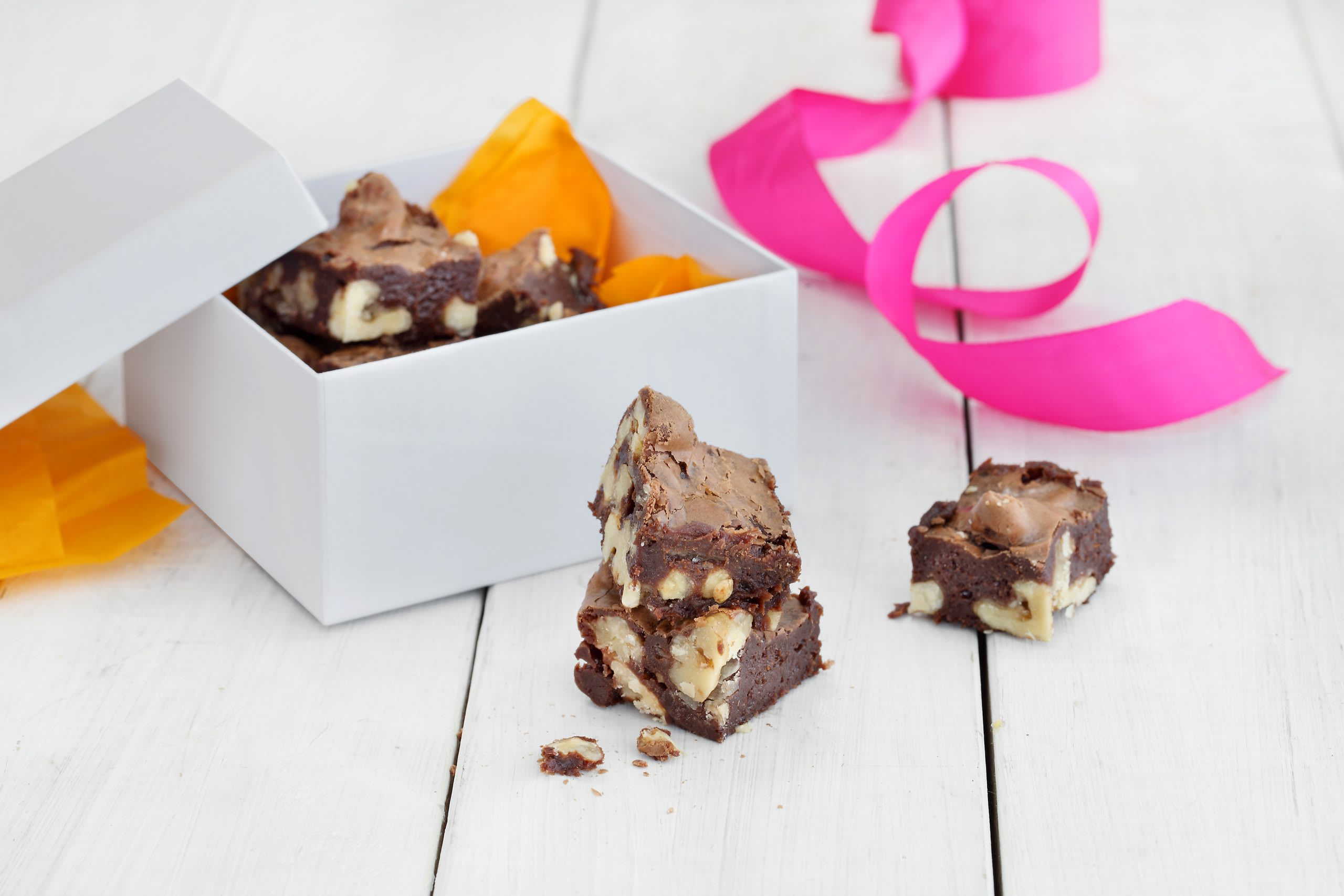 Caramel-Brownies mit Fleur de Sel