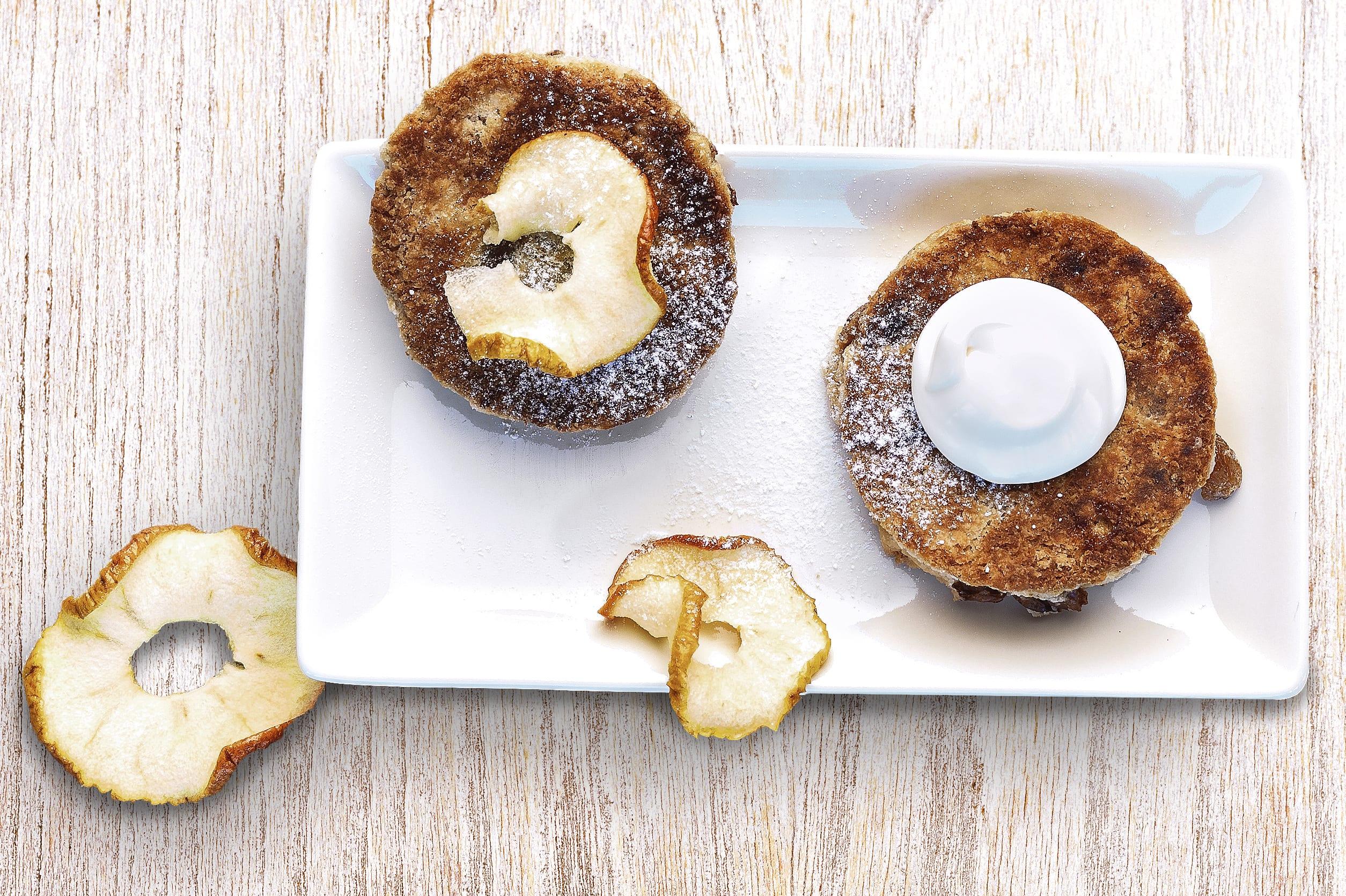 Welsh cakes et chips de pommes