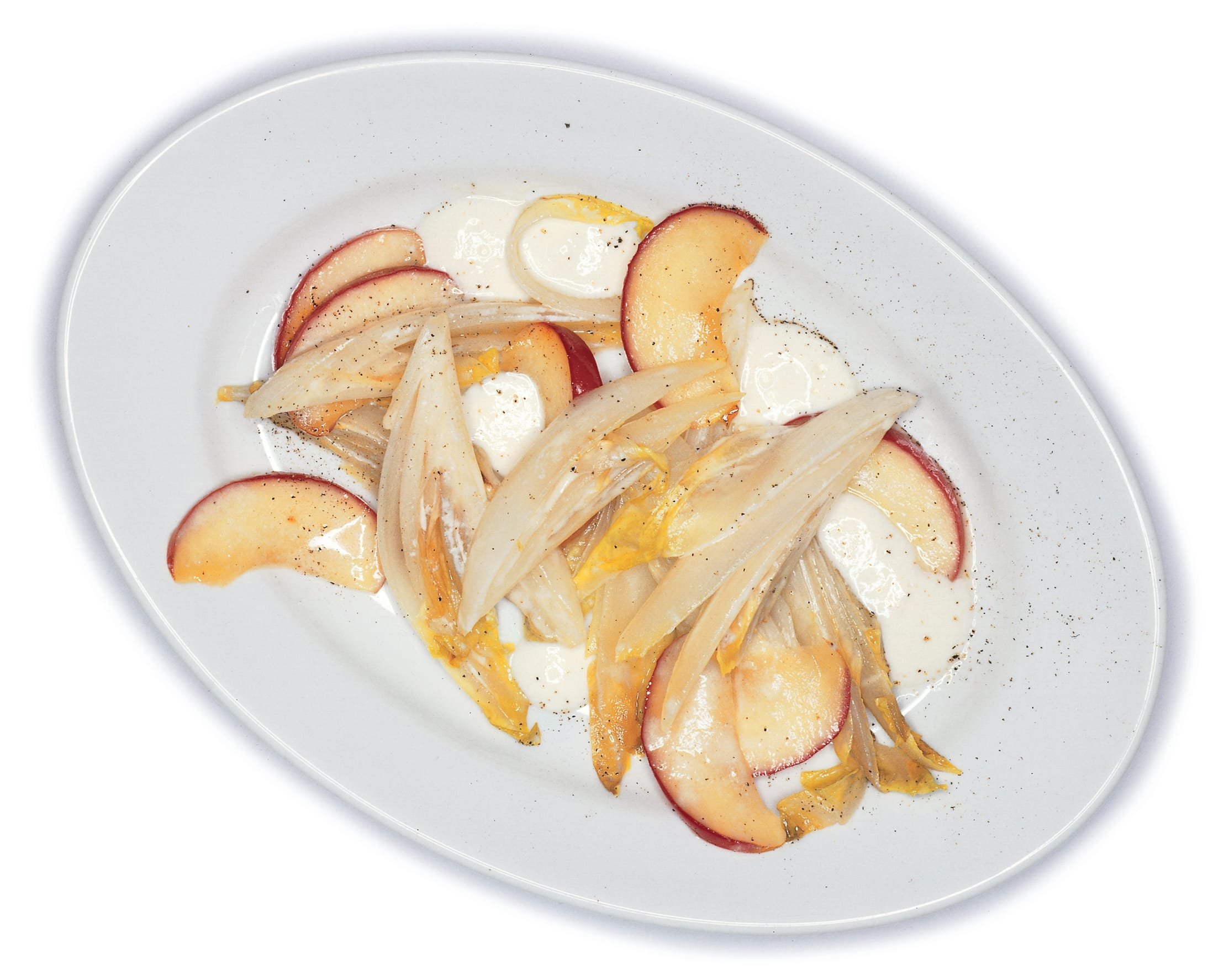 Caramelisiertes Chicorée-Apfel-Gemüse