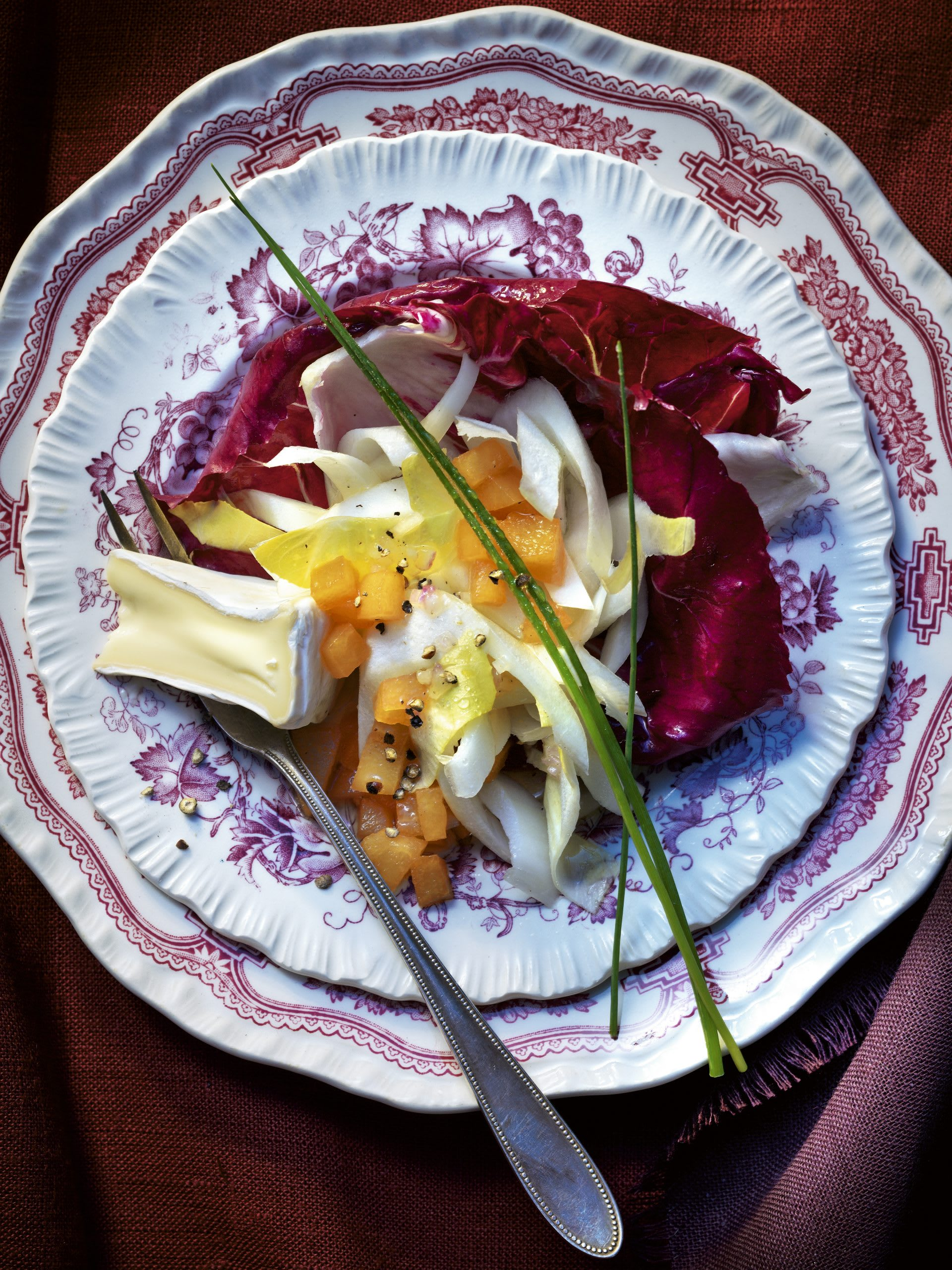 Salade d'endives aux coings