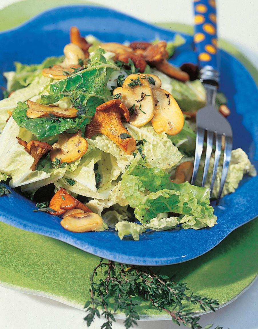 Chinakohlsalat mit Thymian-Pilzen