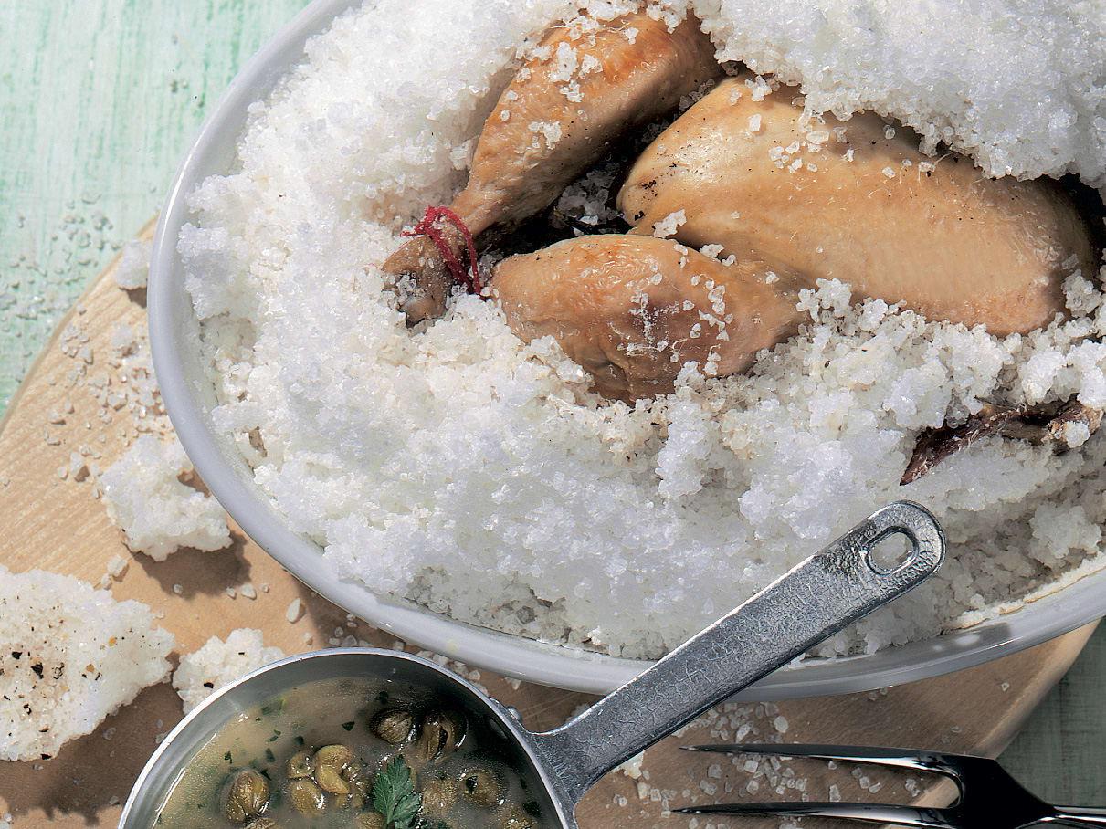 Coq au sel / Poulet in der Salzkruste
