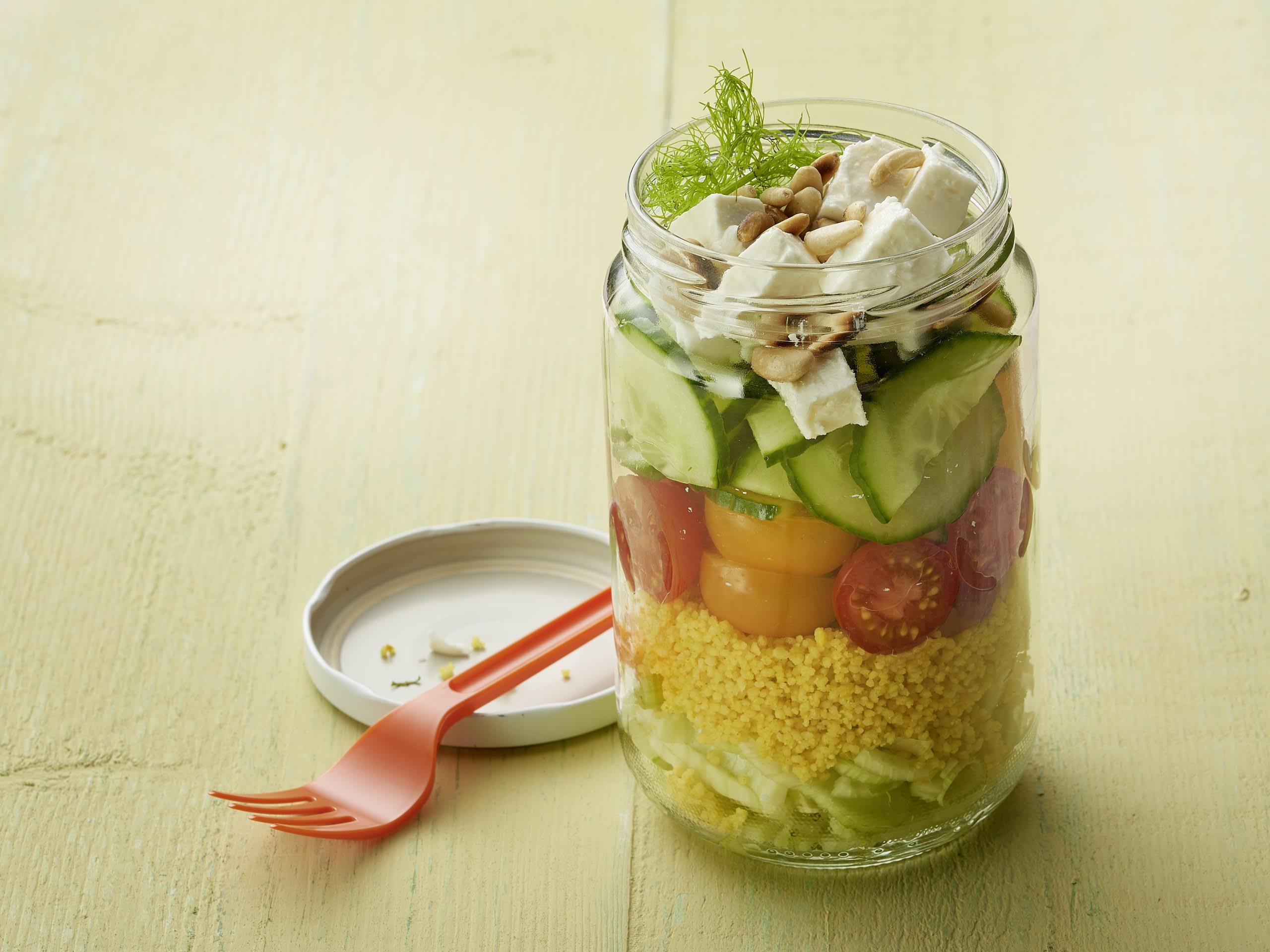 Couscous-Salat im Glas