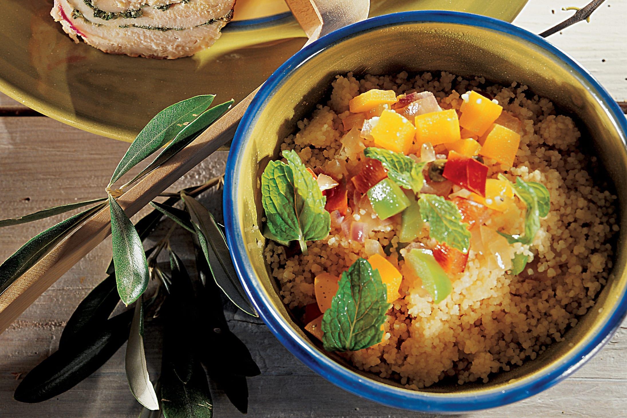 Couscous-Salat mit Peperoni