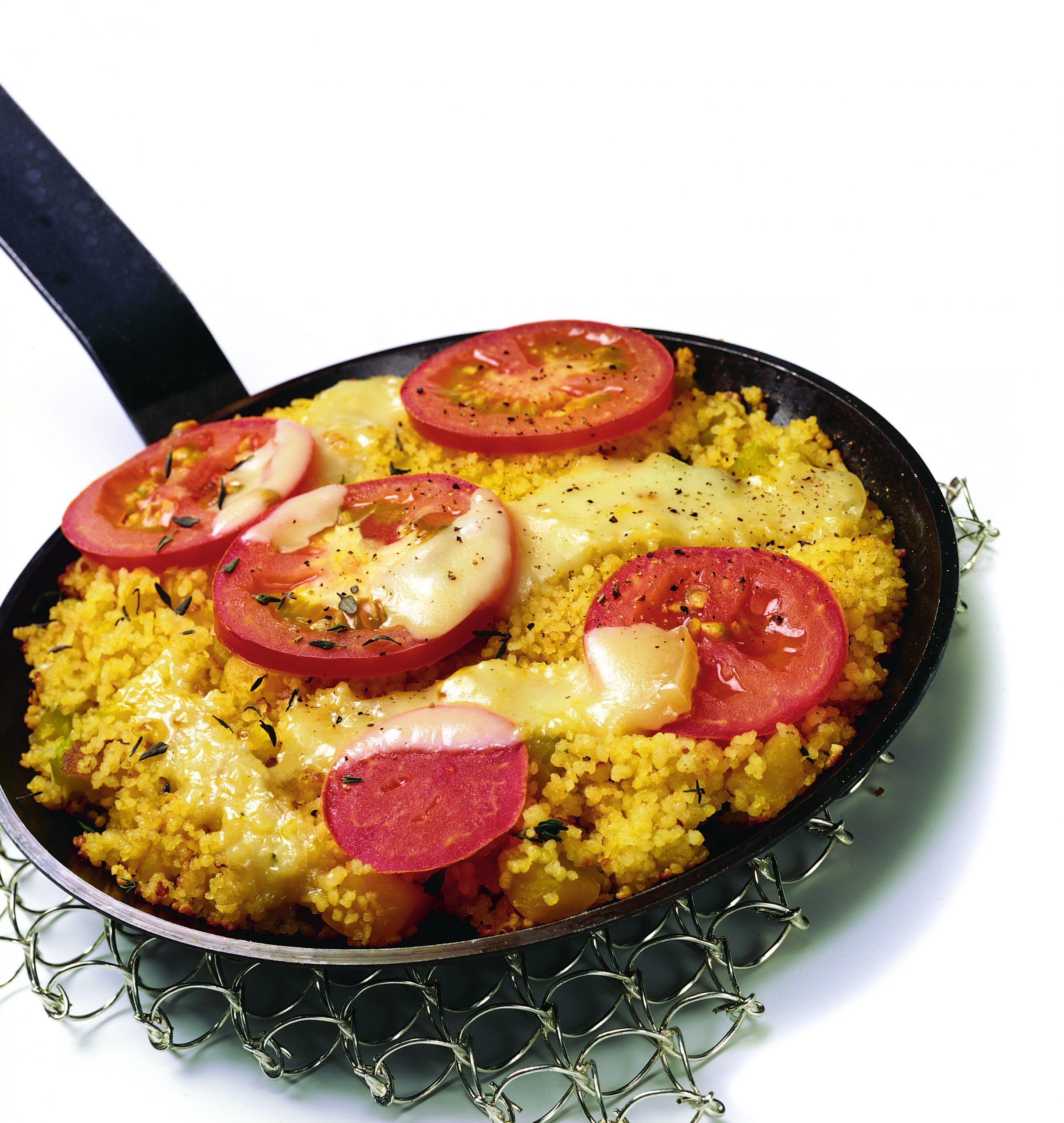 Couscous à la tomate et au tilsit