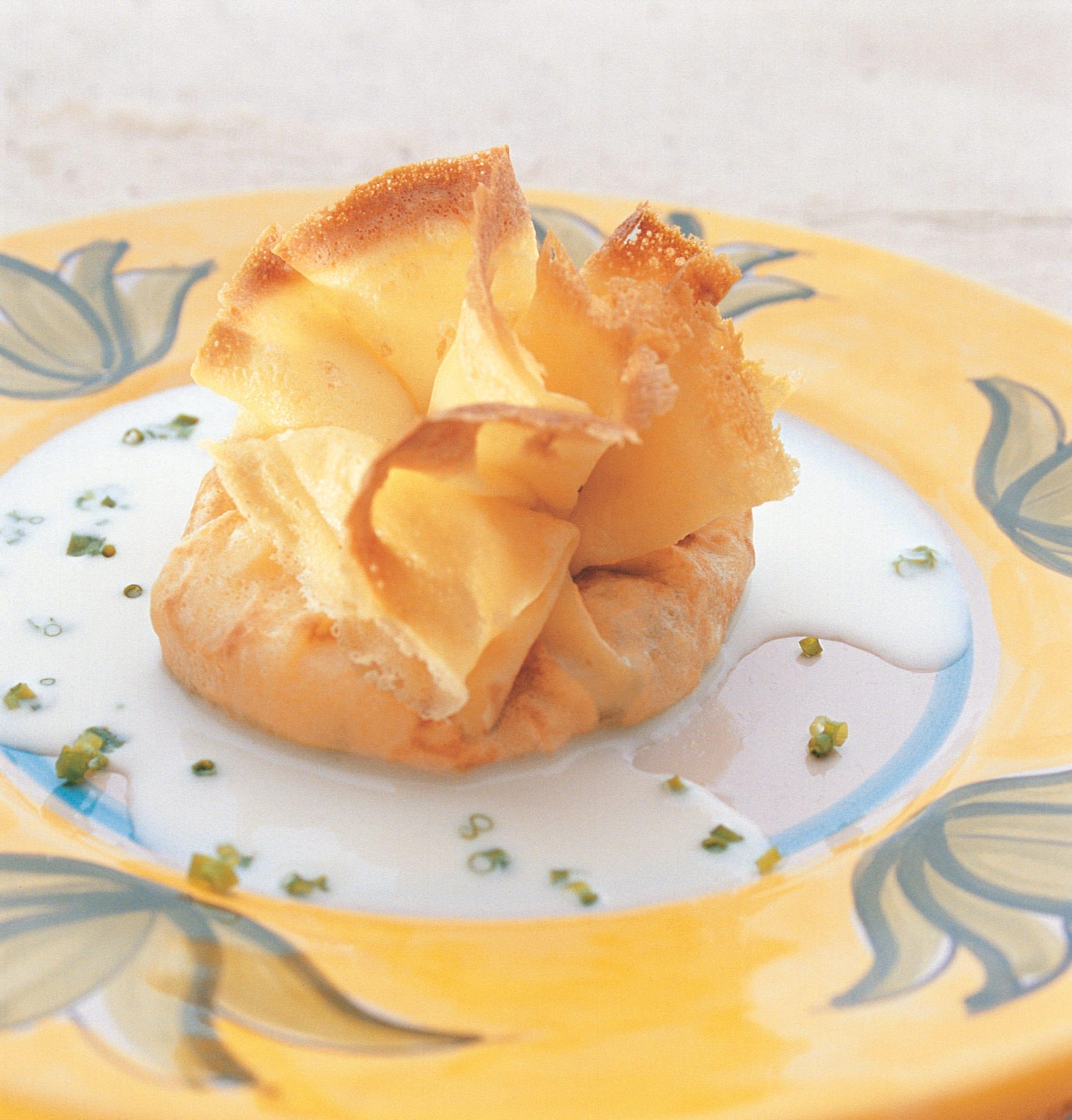 Crêpes mit L'Etivaz und Lauch gefüllt
