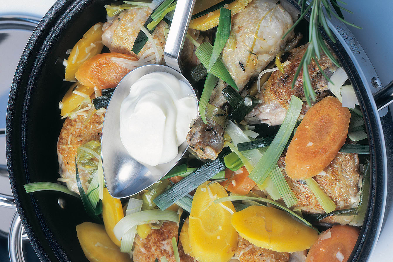 Eintopf mit Poulet und Gemüse