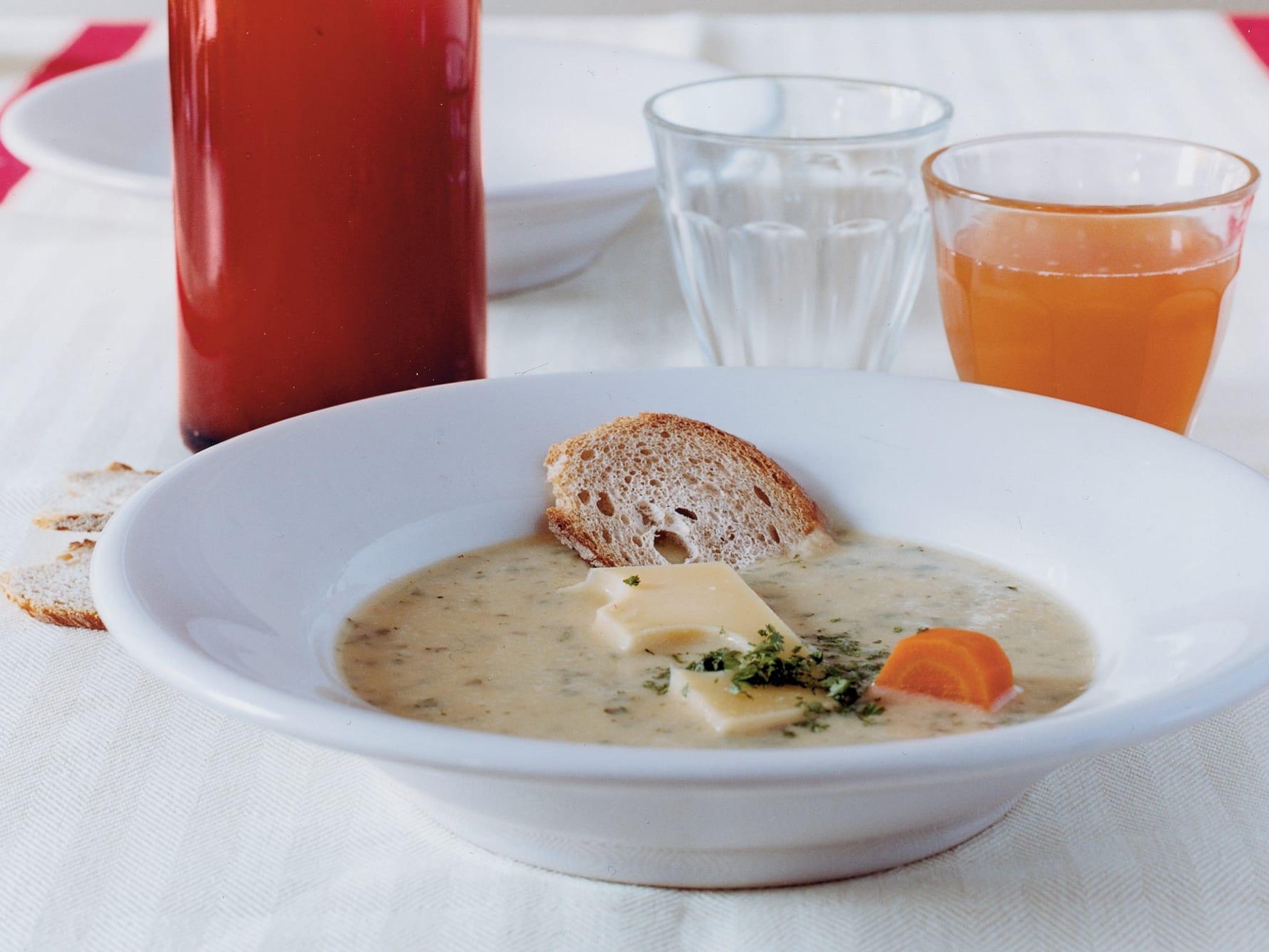 Soupe de pomme de terre à la mode d'Emmental