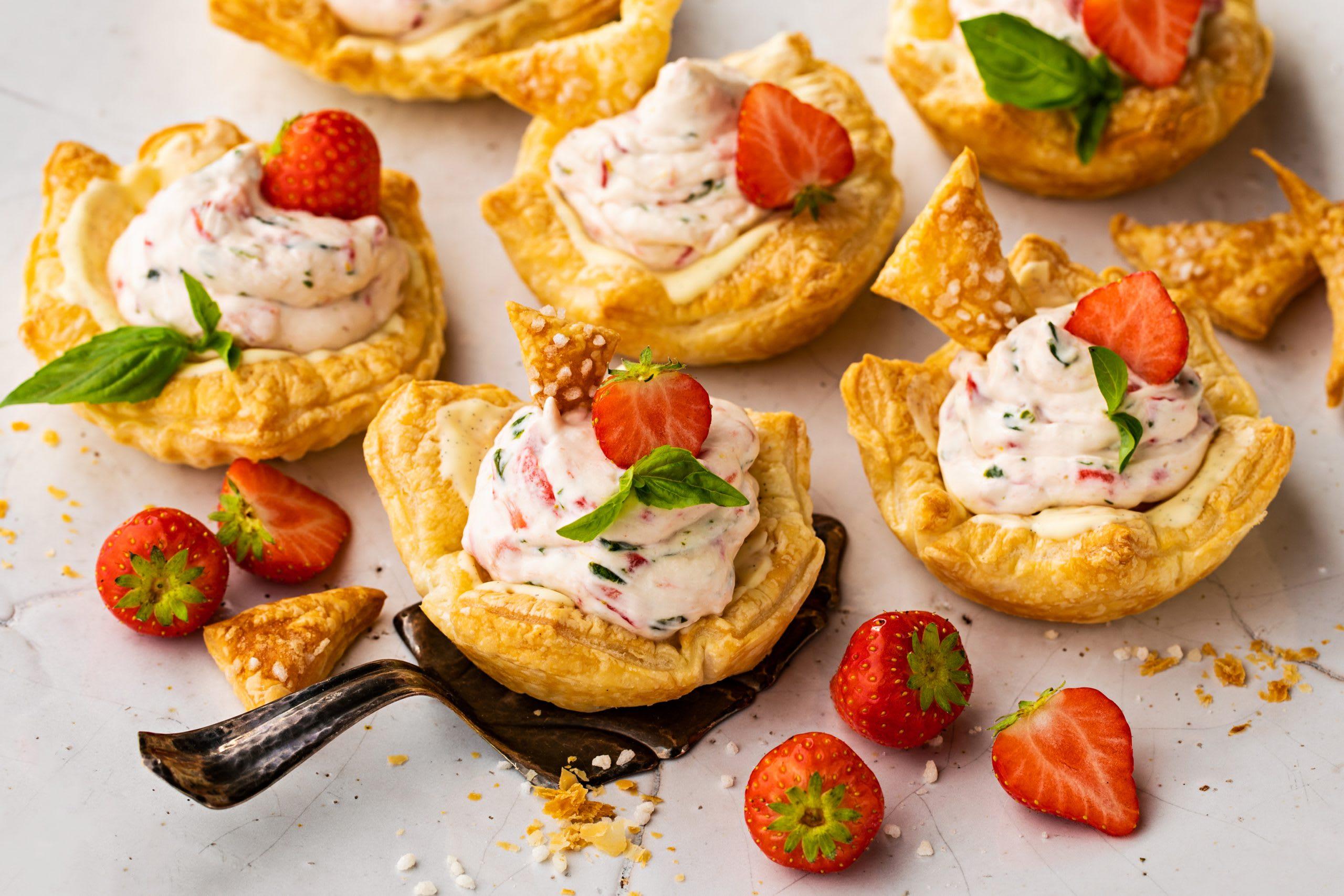 Tartelettes aux fraises et au basilic
