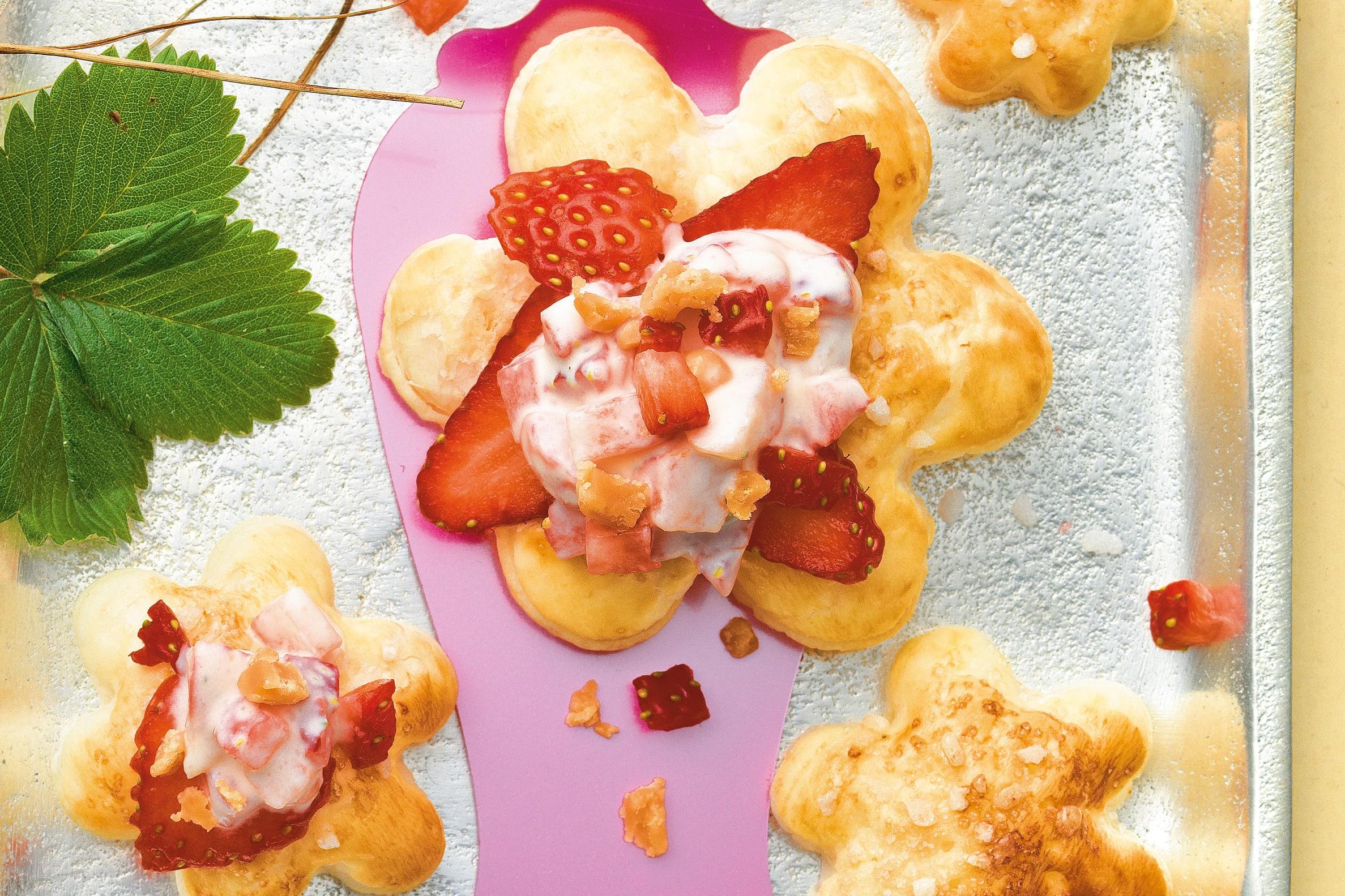 Tartelettes fraises-caramel