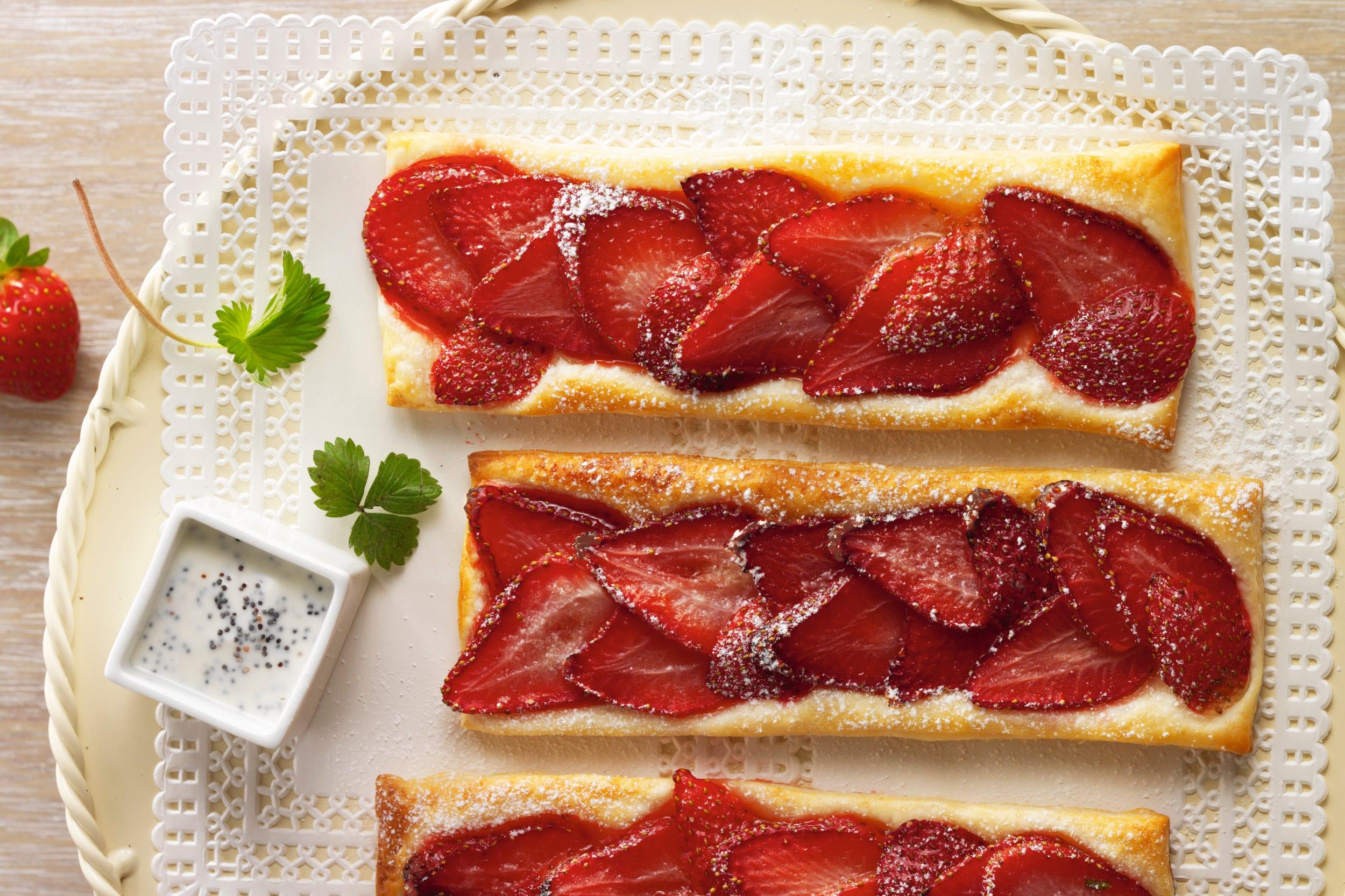 Erdbeer-Feuilletés
