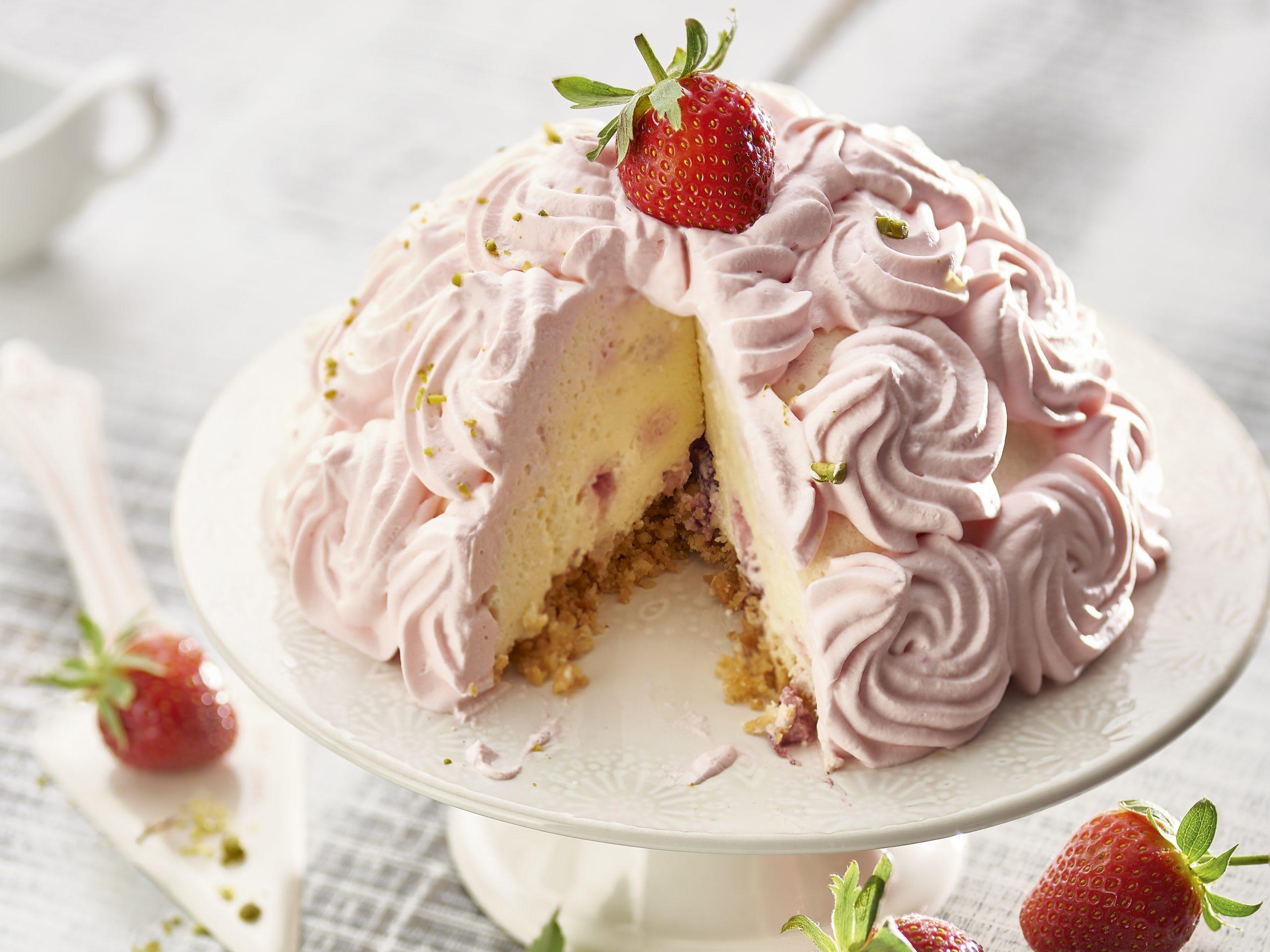 Tourte séré-fraise (sans cuisson)