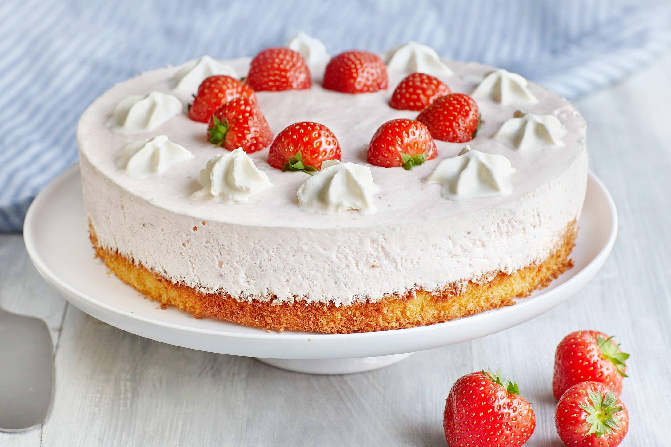 Tourte aux fraises et au séré