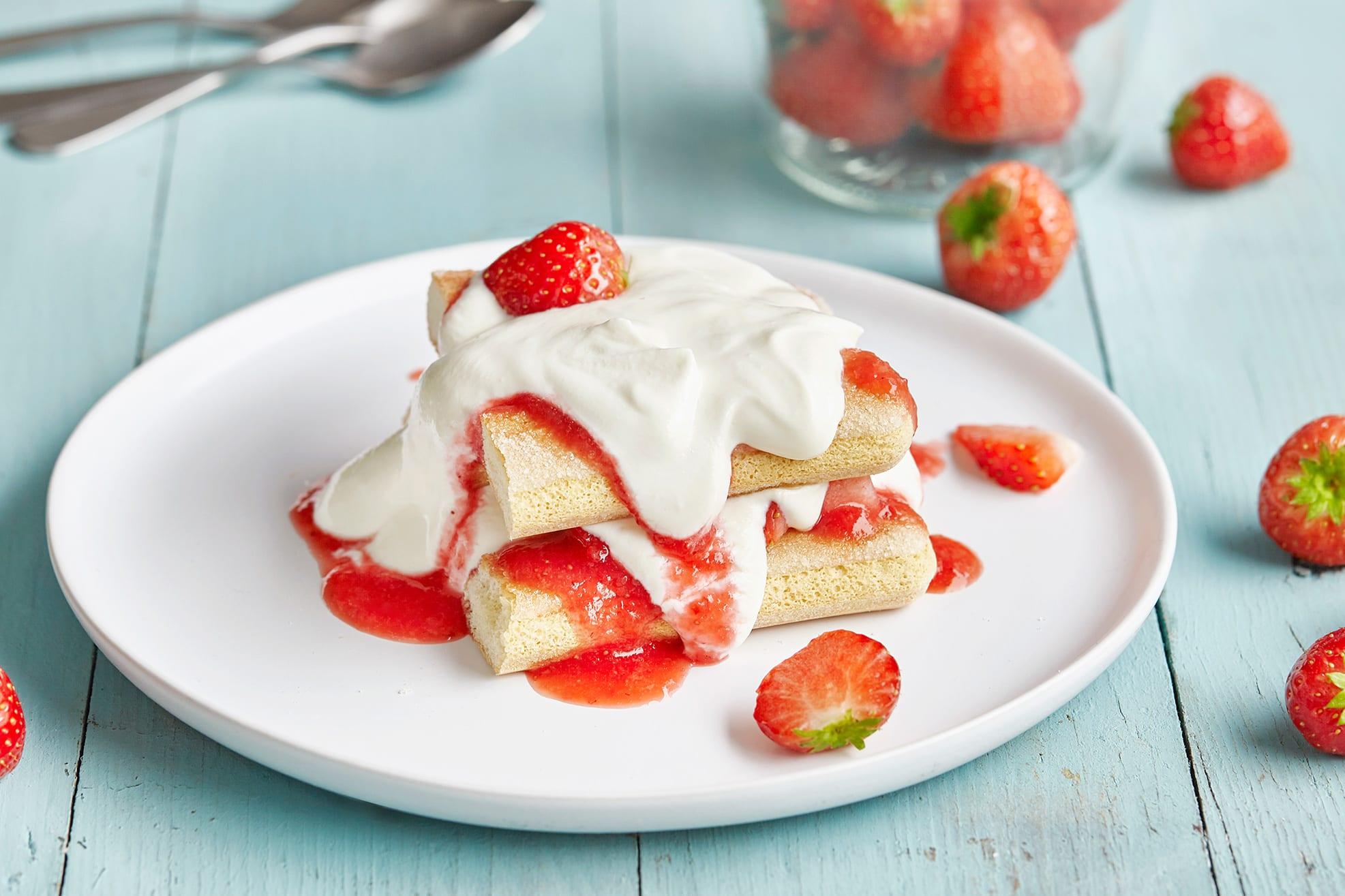 Erdbeer-Tiramisu mit Quark
