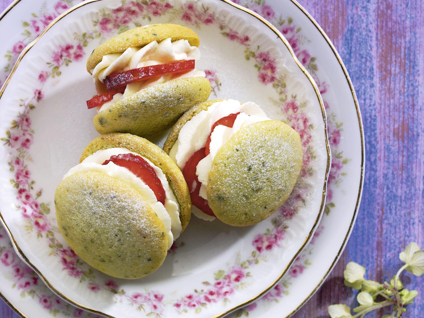 Whoopies aux fraises