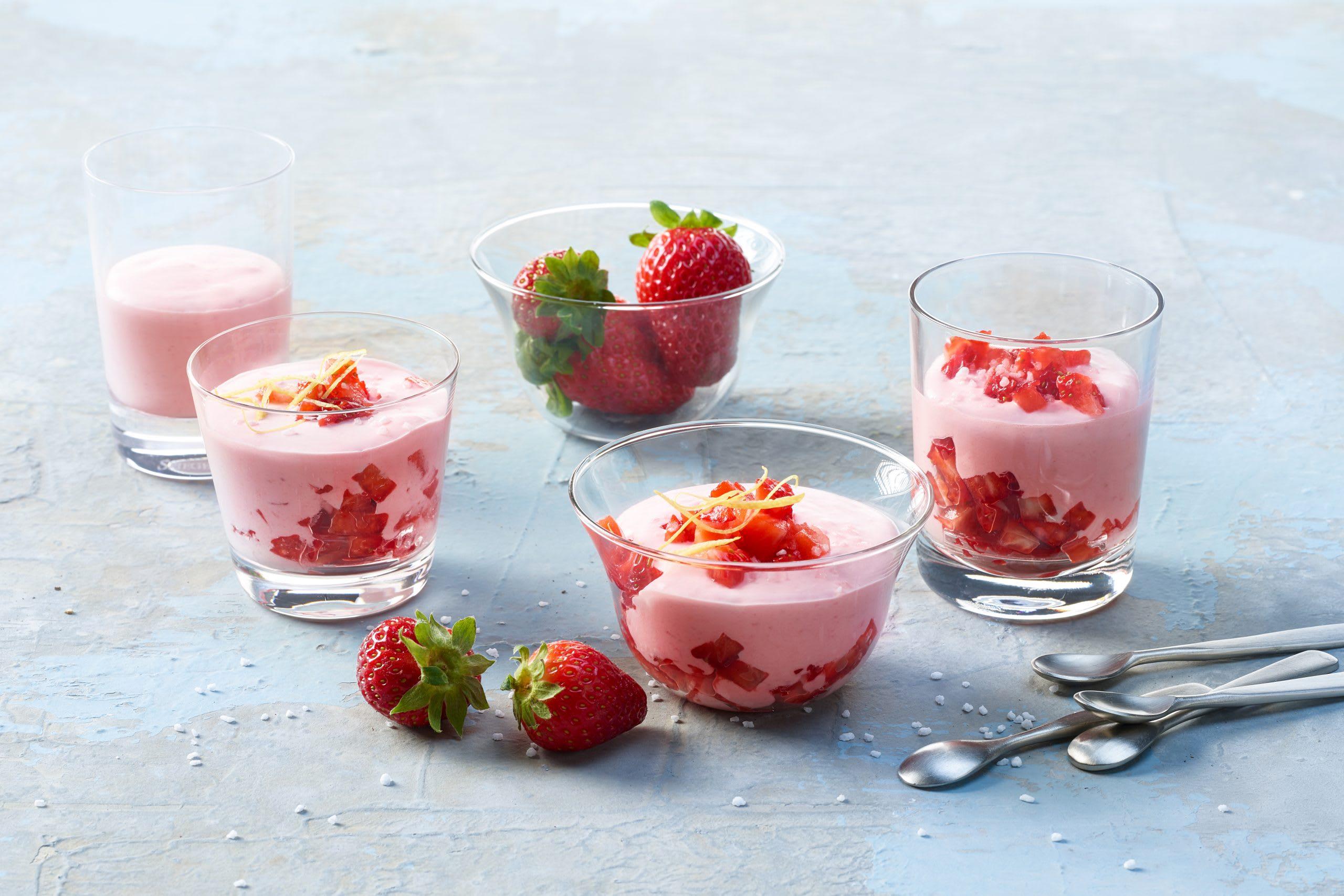 Schnelle Erdbeercrème