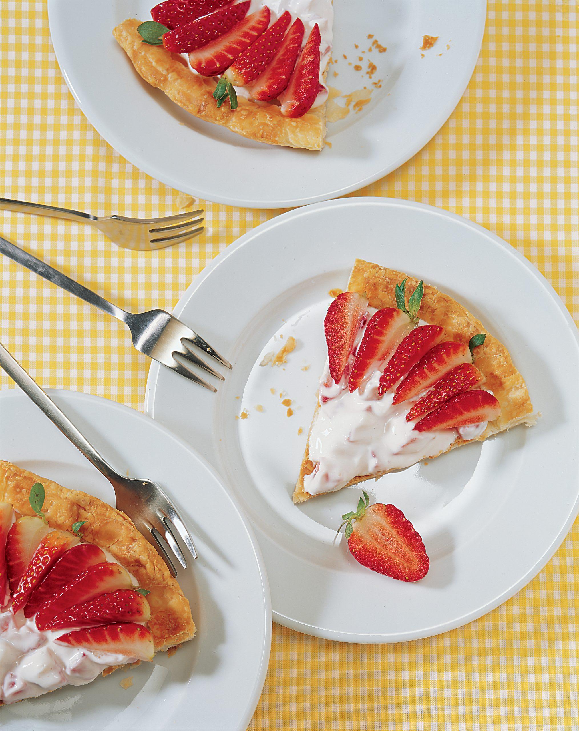 Tarte aux fraises et au séré maigre