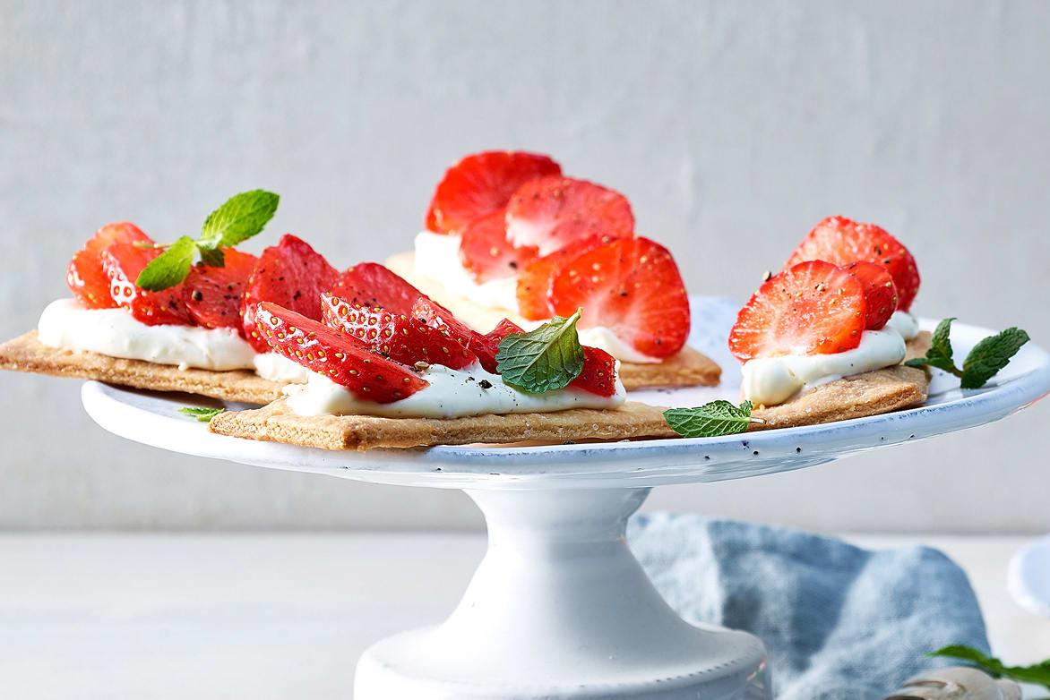 Tranches aux fraises