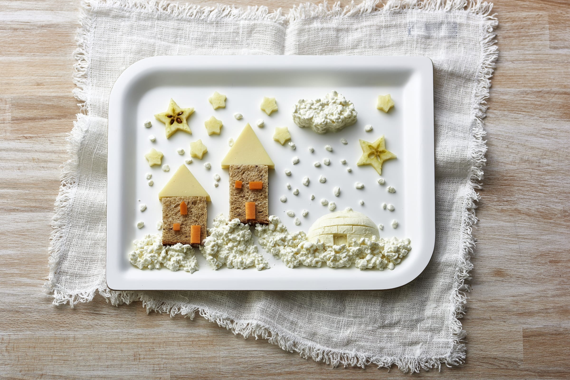 Tableau hivernal comestible