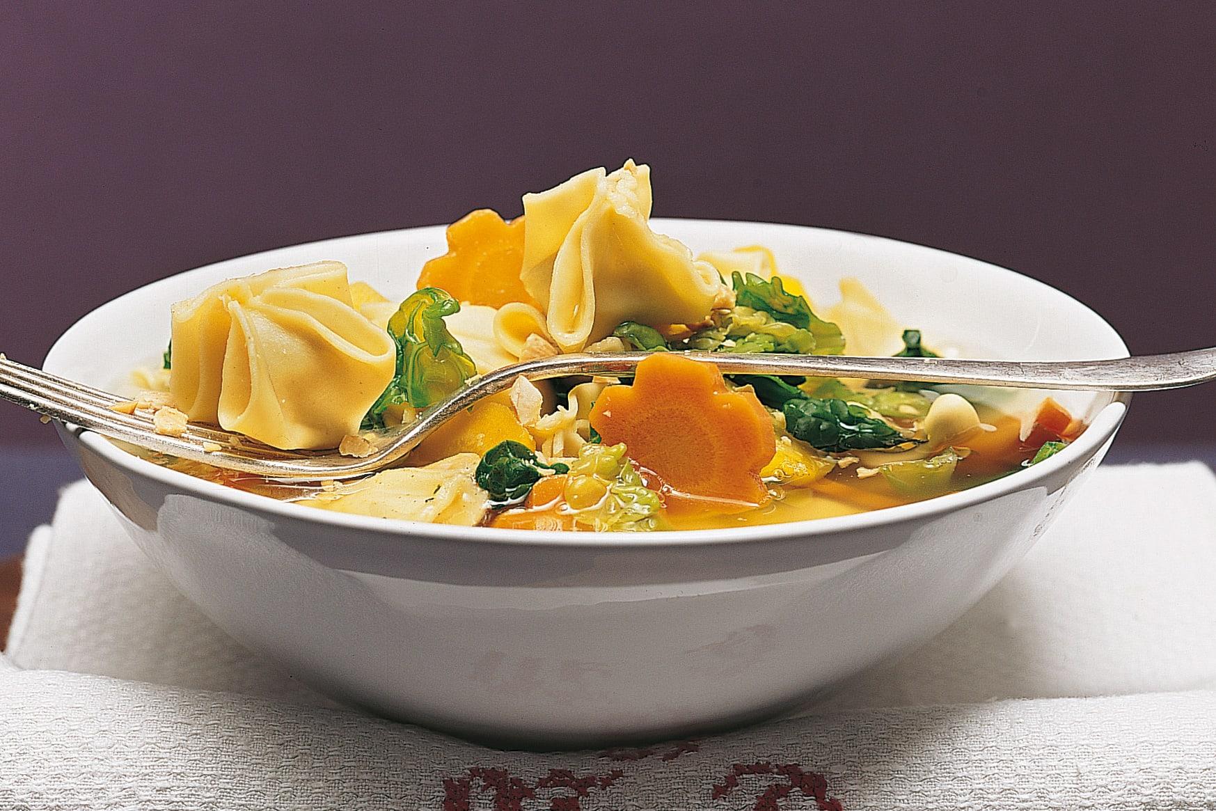 Fagottini en minestrone