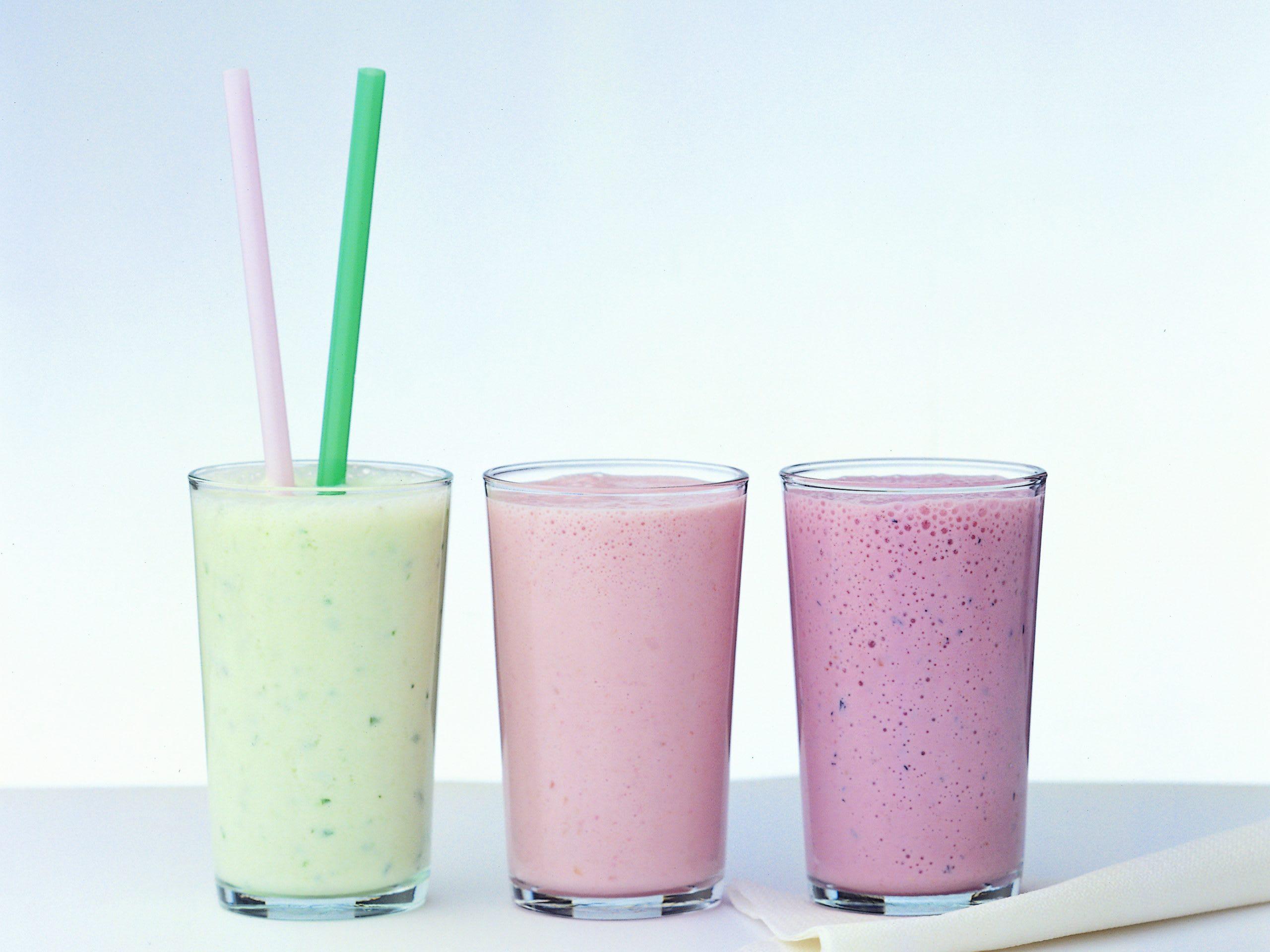 Milkshakes colorés
