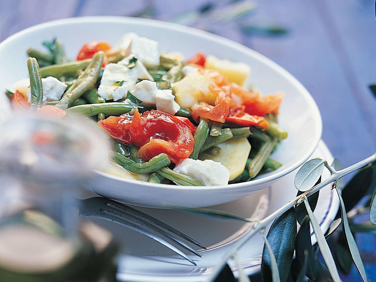 Fasolakia ladera (haricots verts aux pommes de terre et tomates)