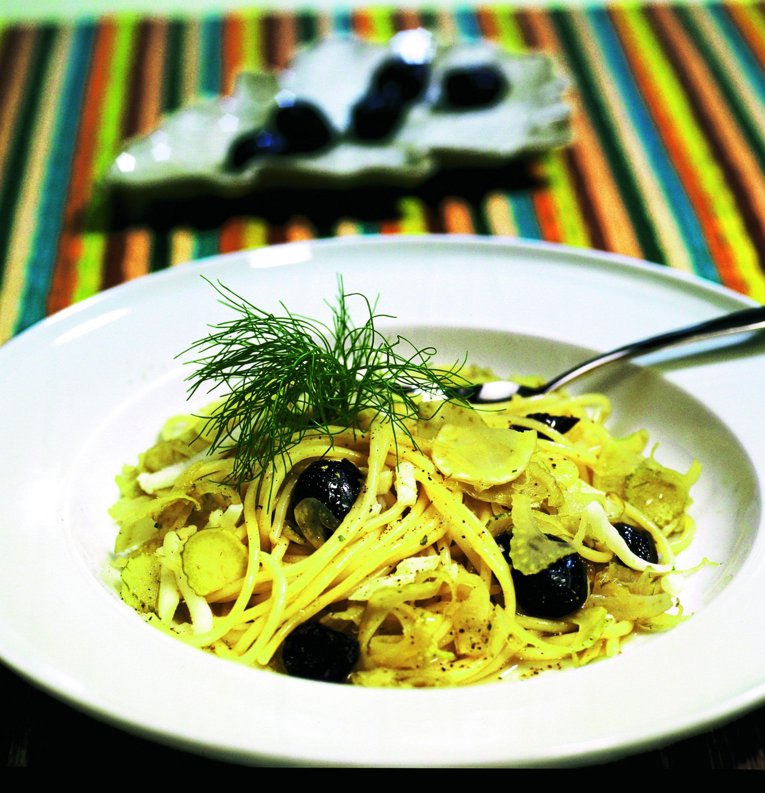Fenchel-Oliven-Spaghetti