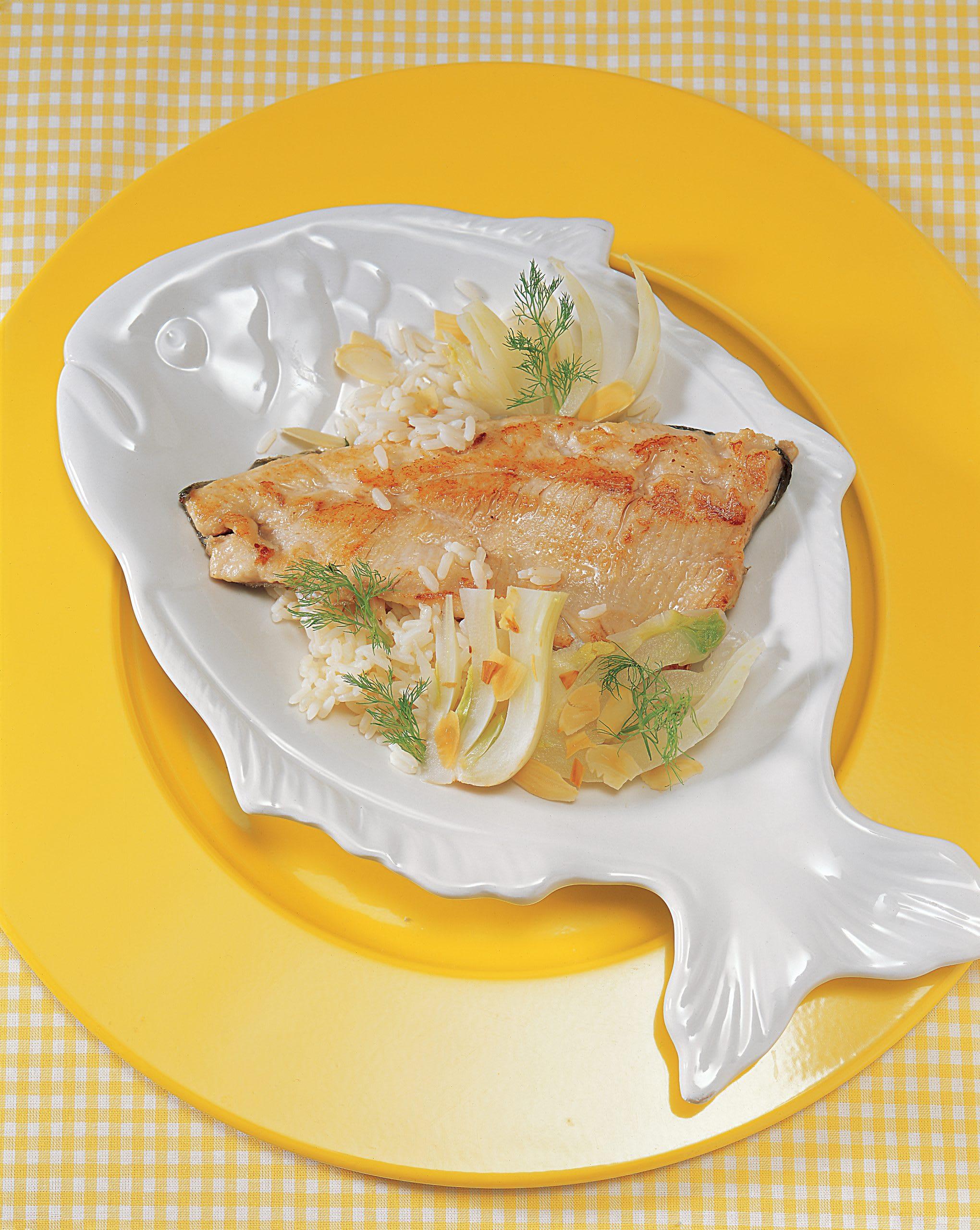 Fenchelreis mit Fisch
