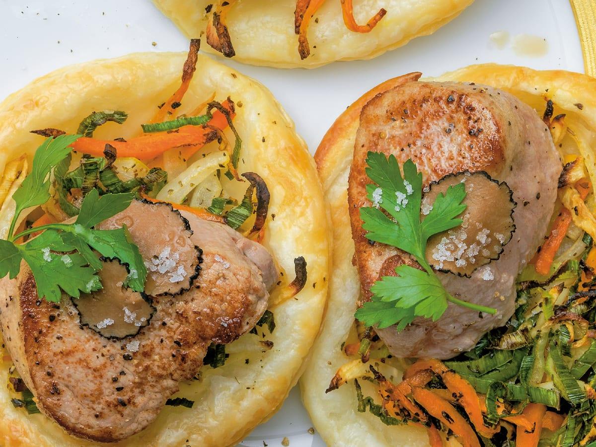 Filets auf Gemüse-Kissen