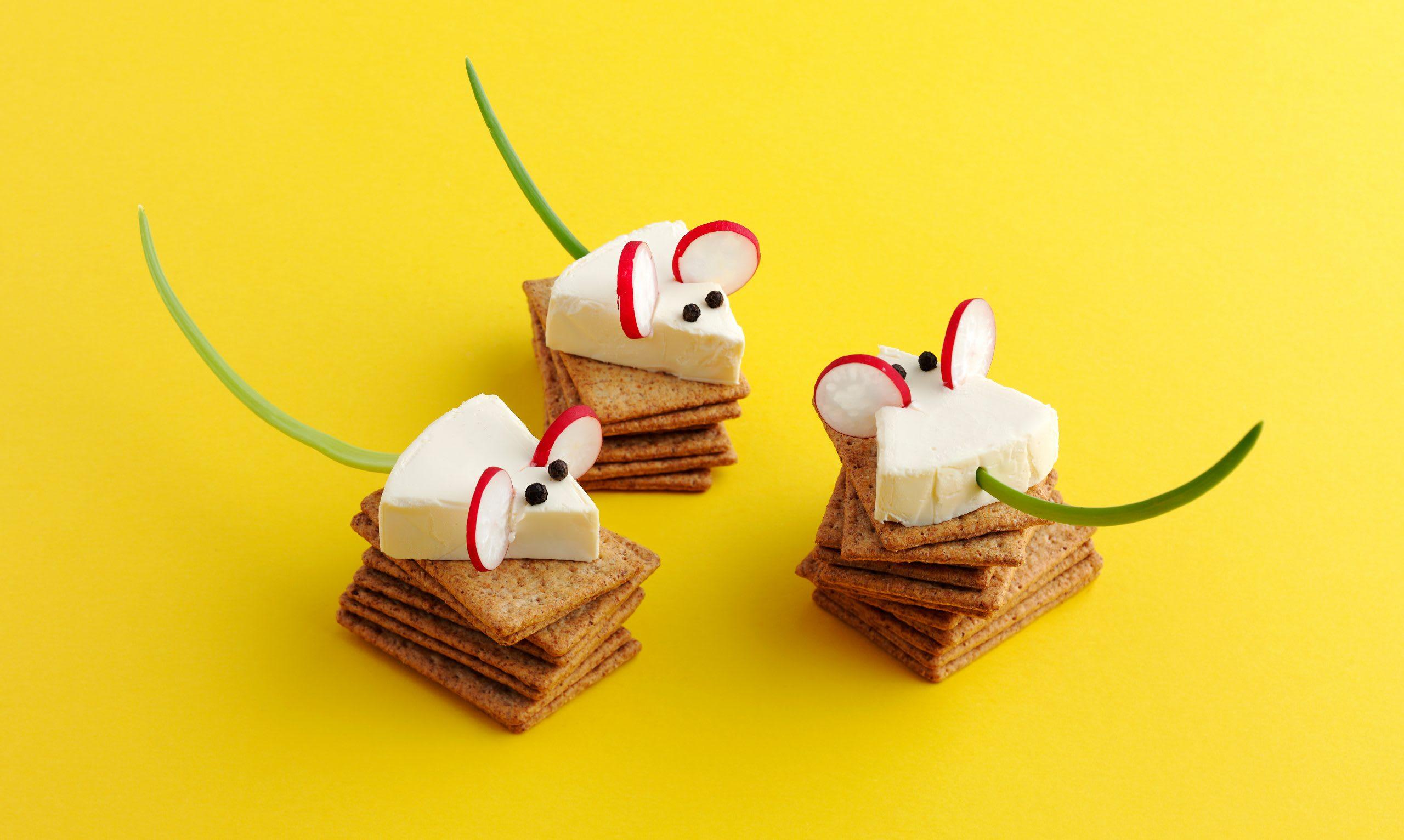 Fingerfood-Mäuse (Kindergeburtstag)