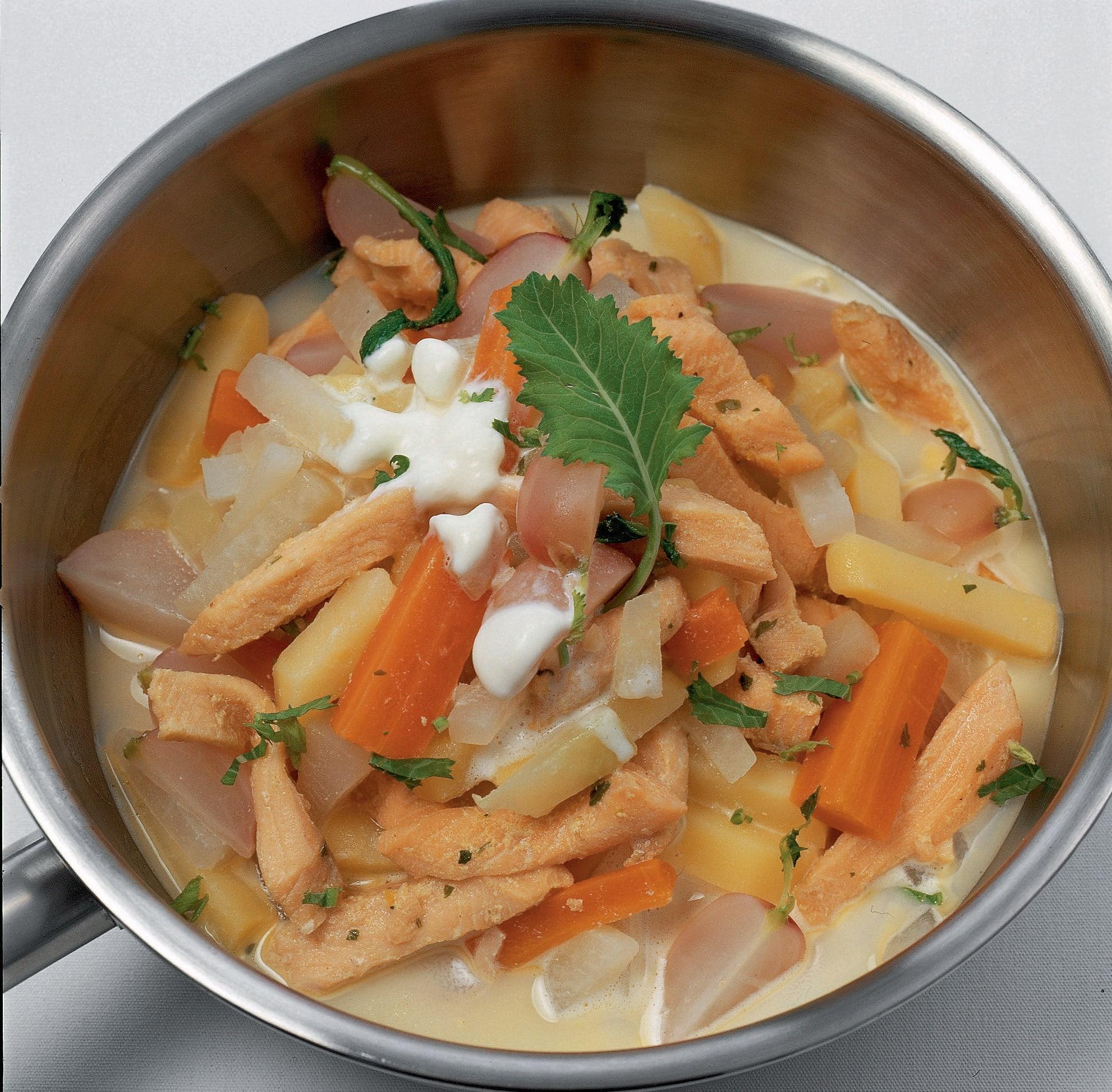 Fisch-Gemüse-Topf