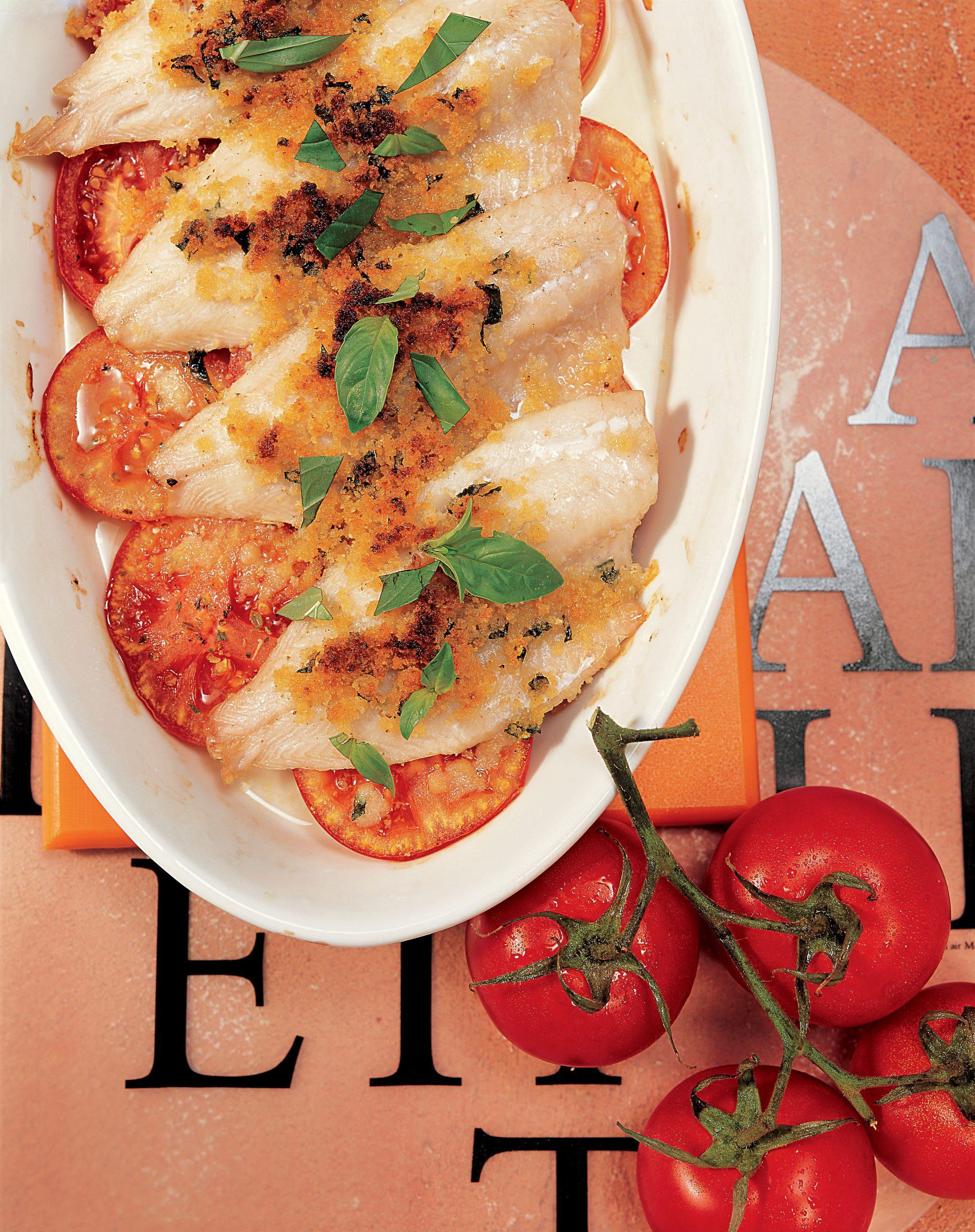 Gratin de poisson et de tomates au fromage (low carb)