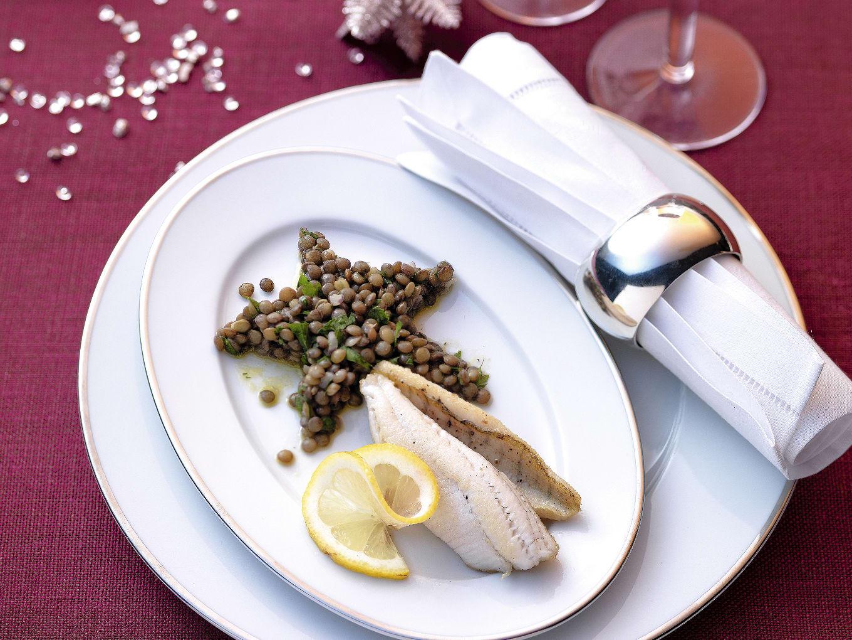 Filets de poisson à la vinaigrette persillée