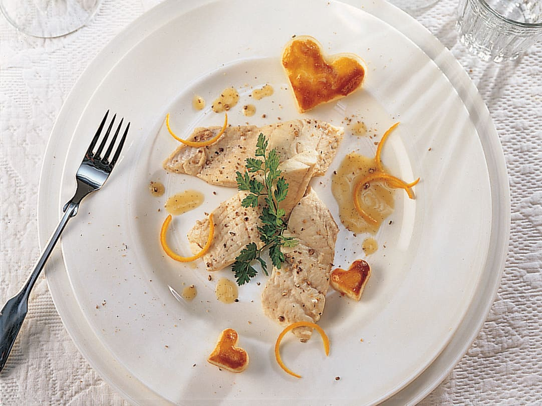 Fischfilets an Vanillesauce