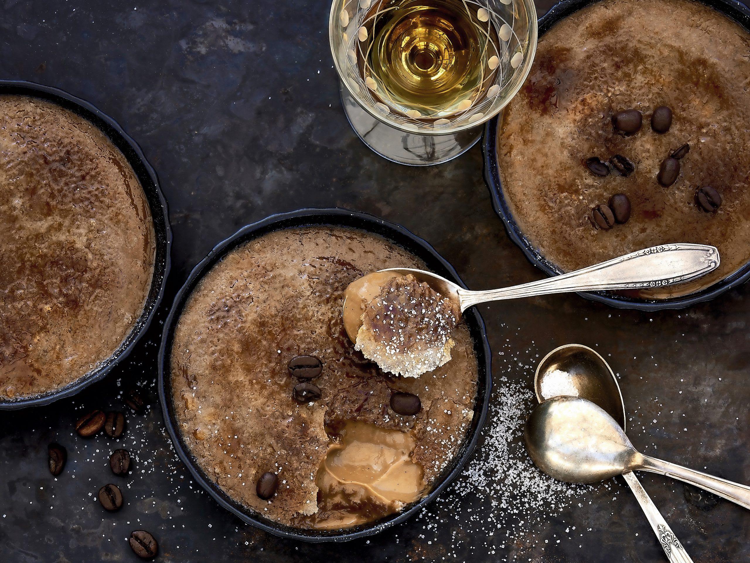 Flambierte Cognac-Kaffee-Crème