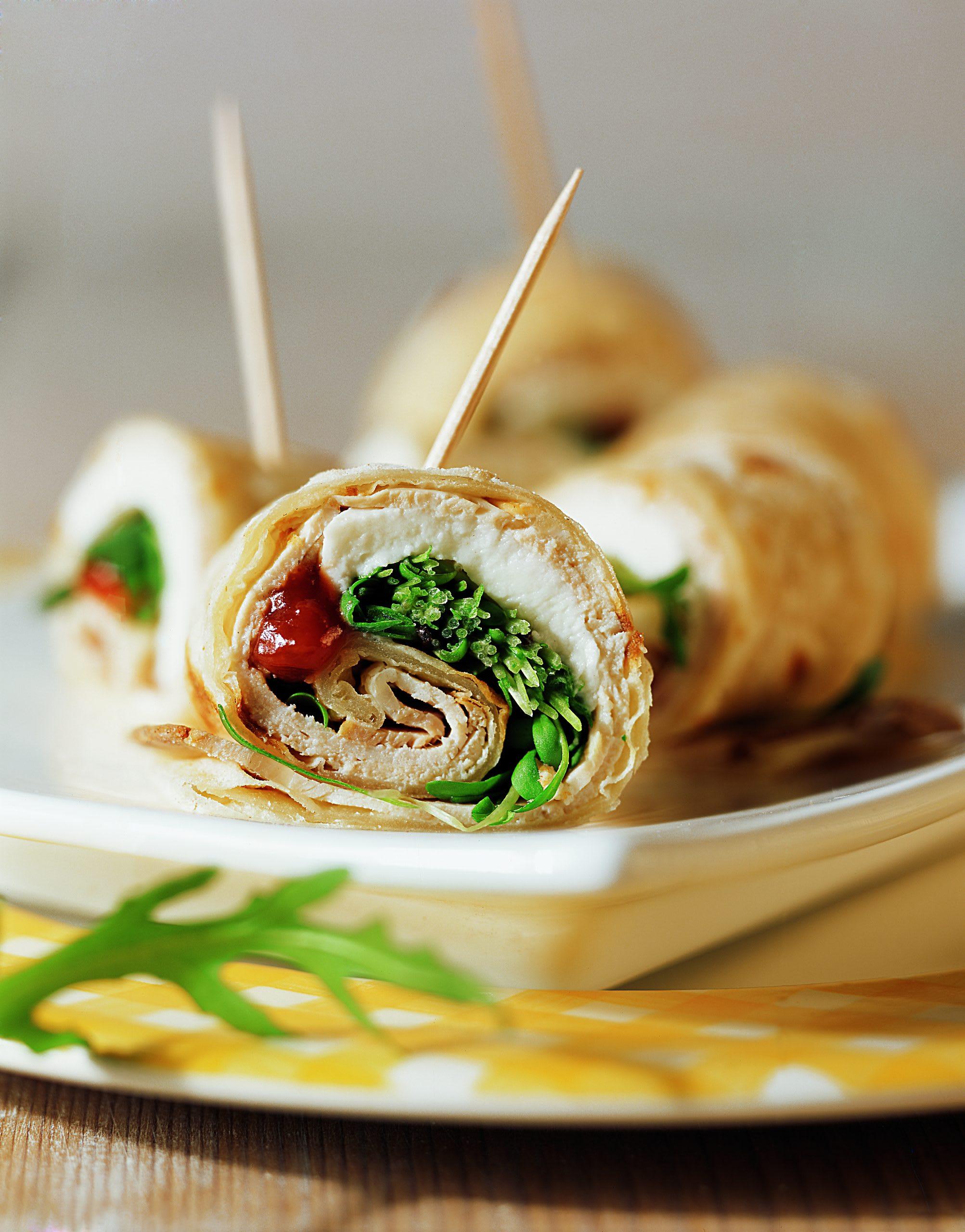 Fleisch-Mozzarella-Wraps