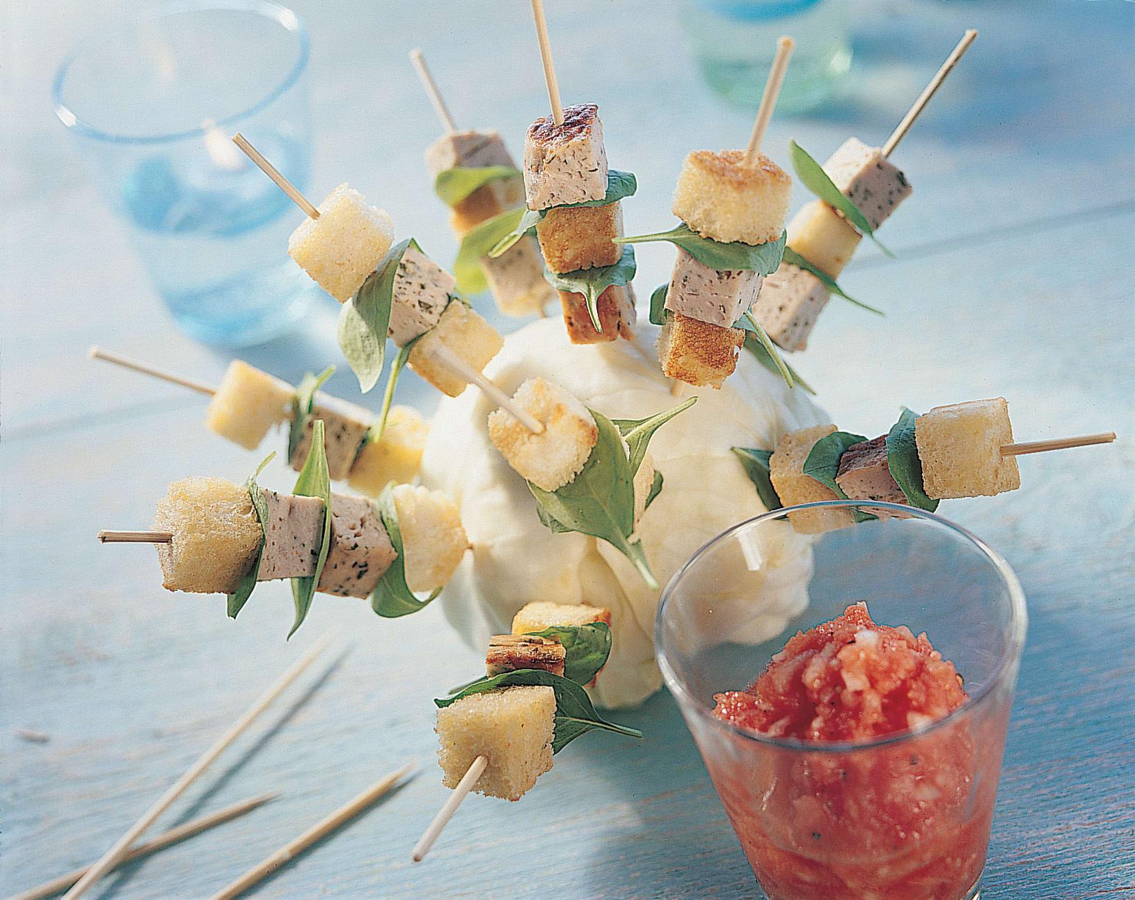 Brochettes de fromage d'Italie
