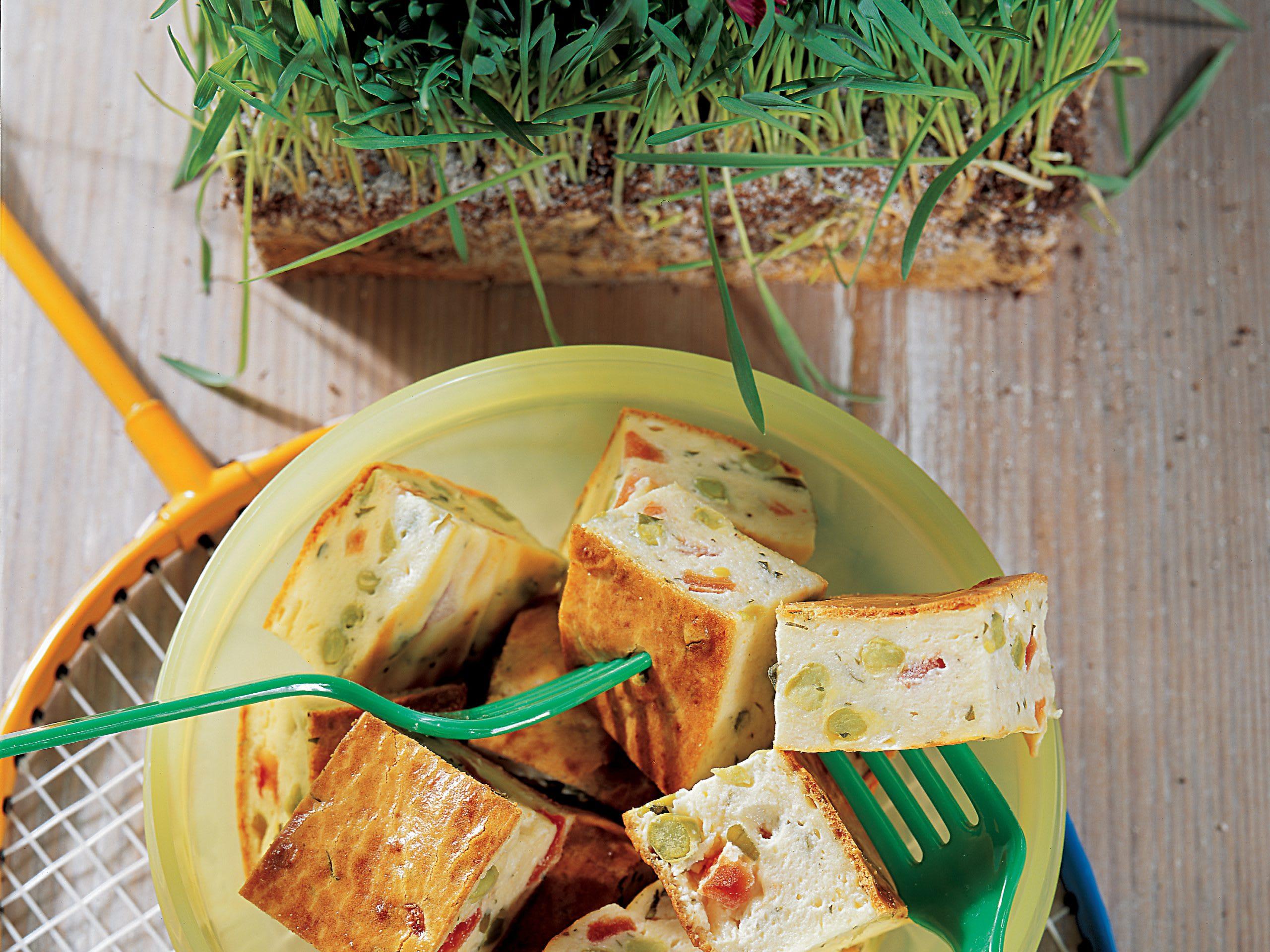 Frischkäse-Gemüse-Schnitten