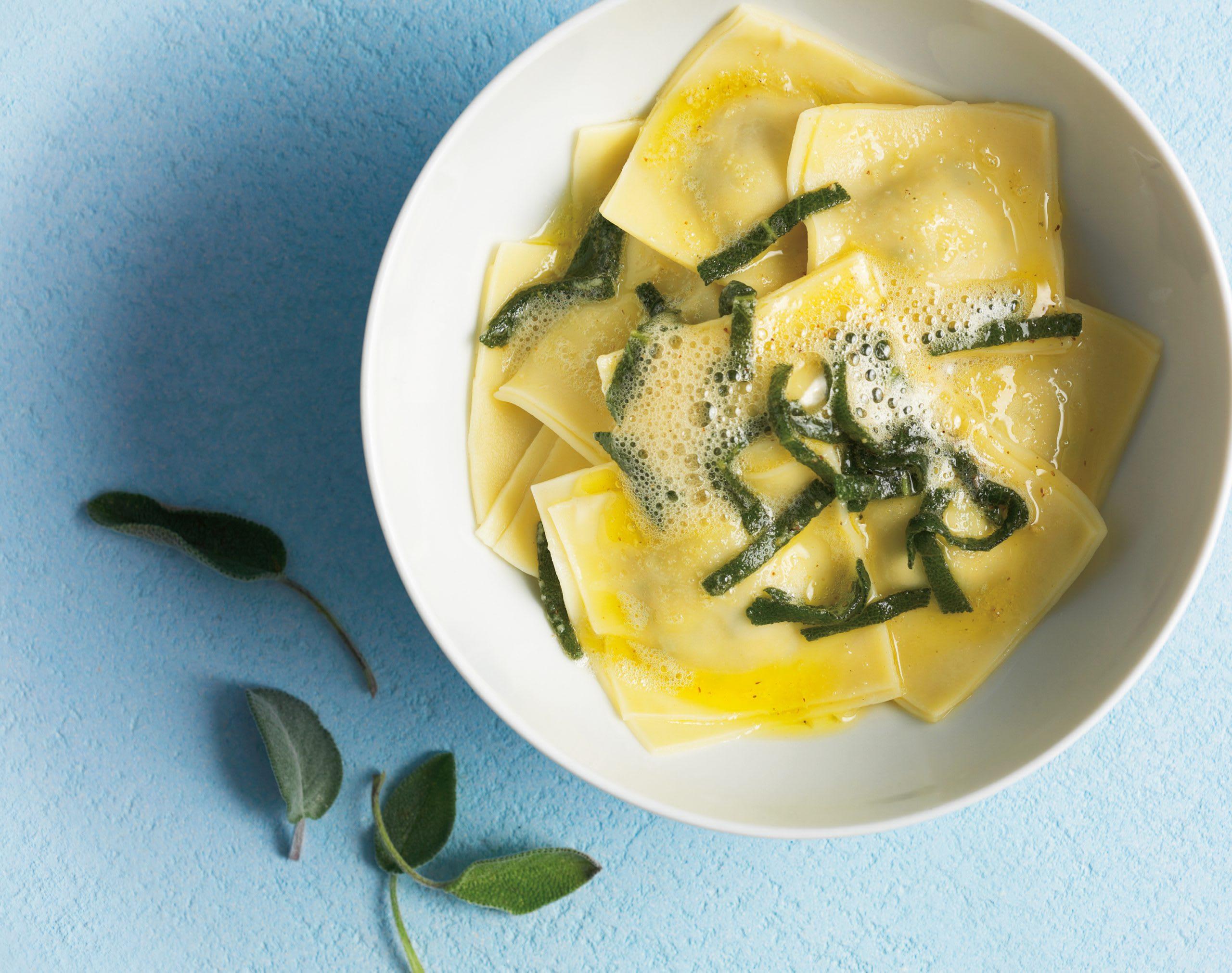 Ravioli au fromage frais